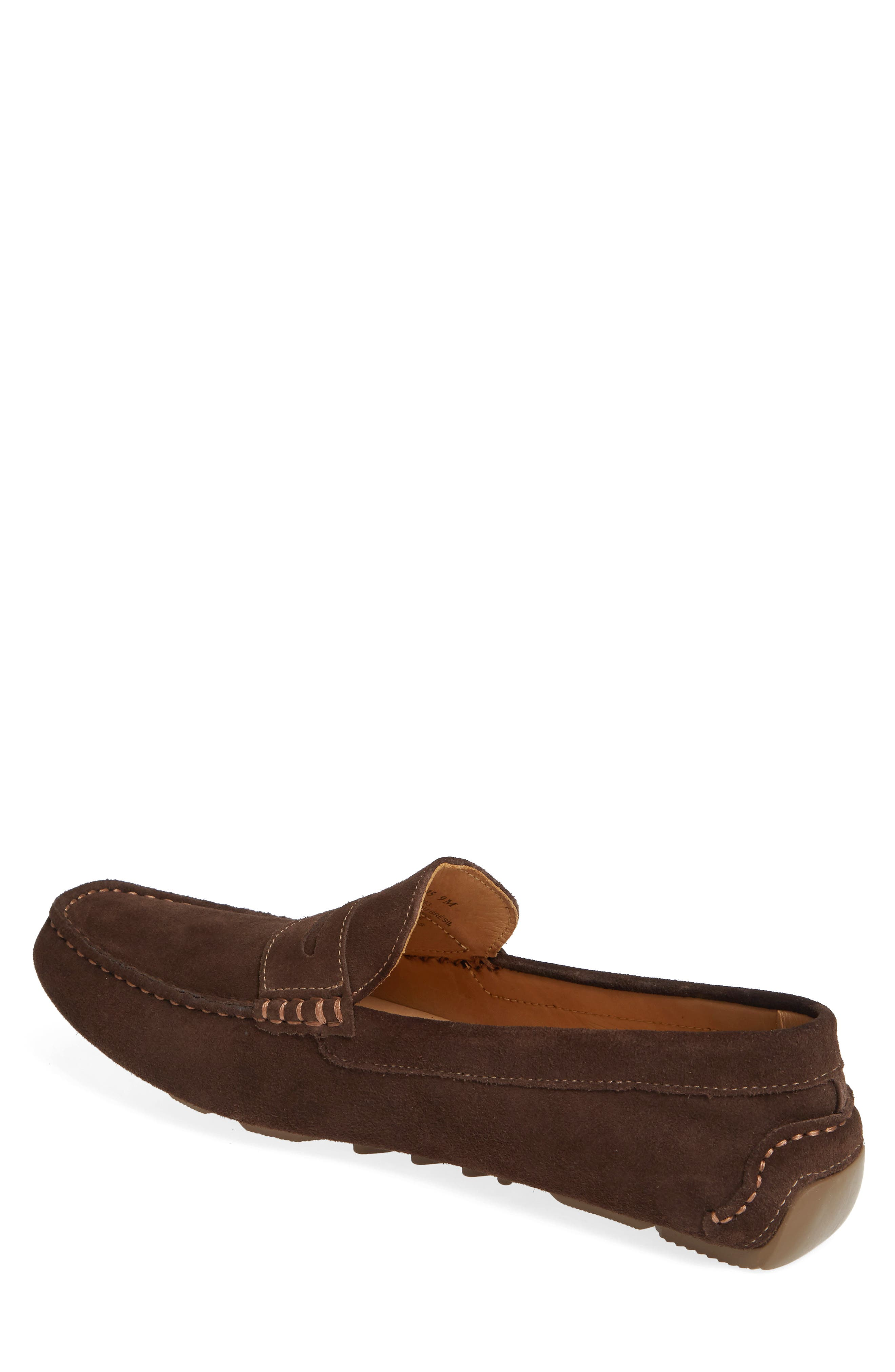 1901, Bermuda Penny Loafer, Alternate thumbnail 2, color, BROWN SUEDE