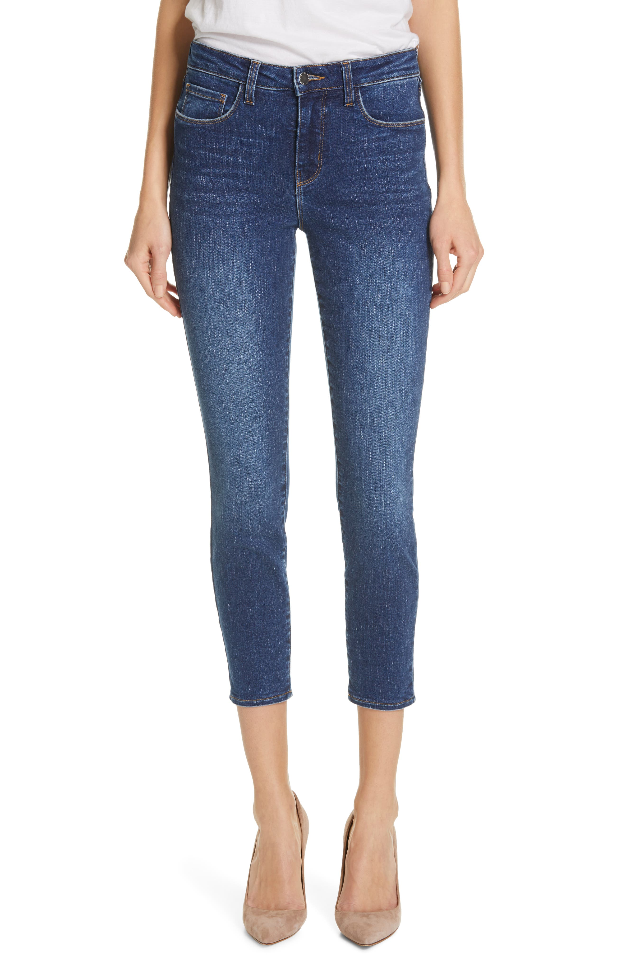 L'AGENCE, Margot Crop Skinny Jeans, Main thumbnail 1, color, TUSCAN