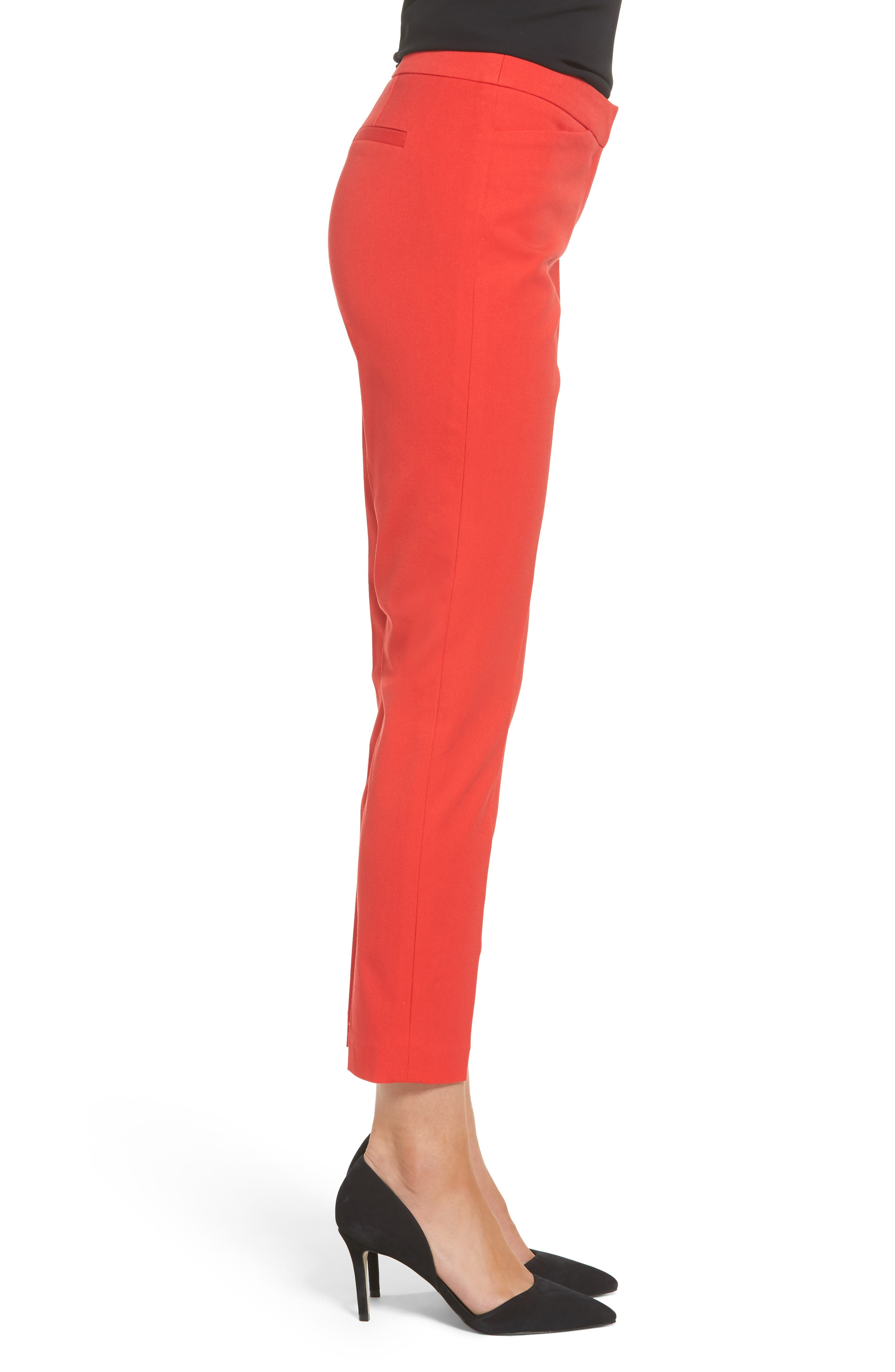 HALOGEN<SUP>®</SUP>, Ankle Pants, Alternate thumbnail 4, color, RED BLOOM