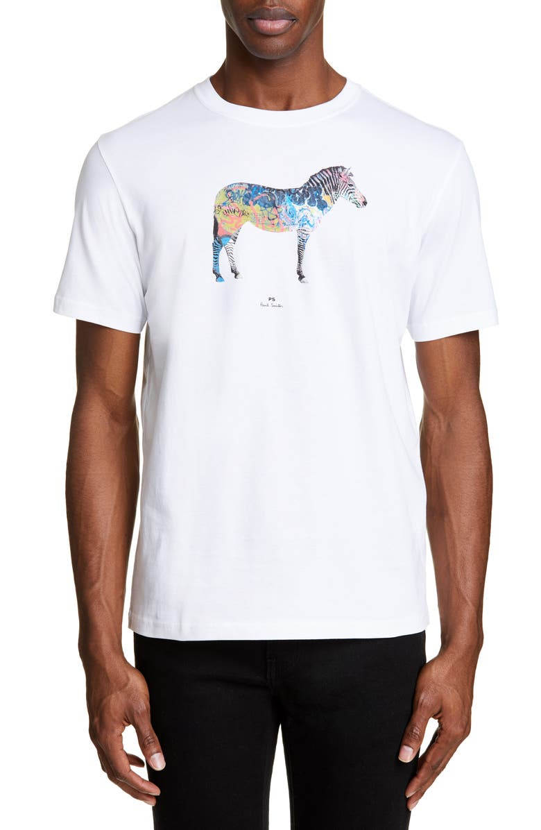 Ps By Paul Smith T-shirts ZEBRA GRAPHIC T-SHIRT
