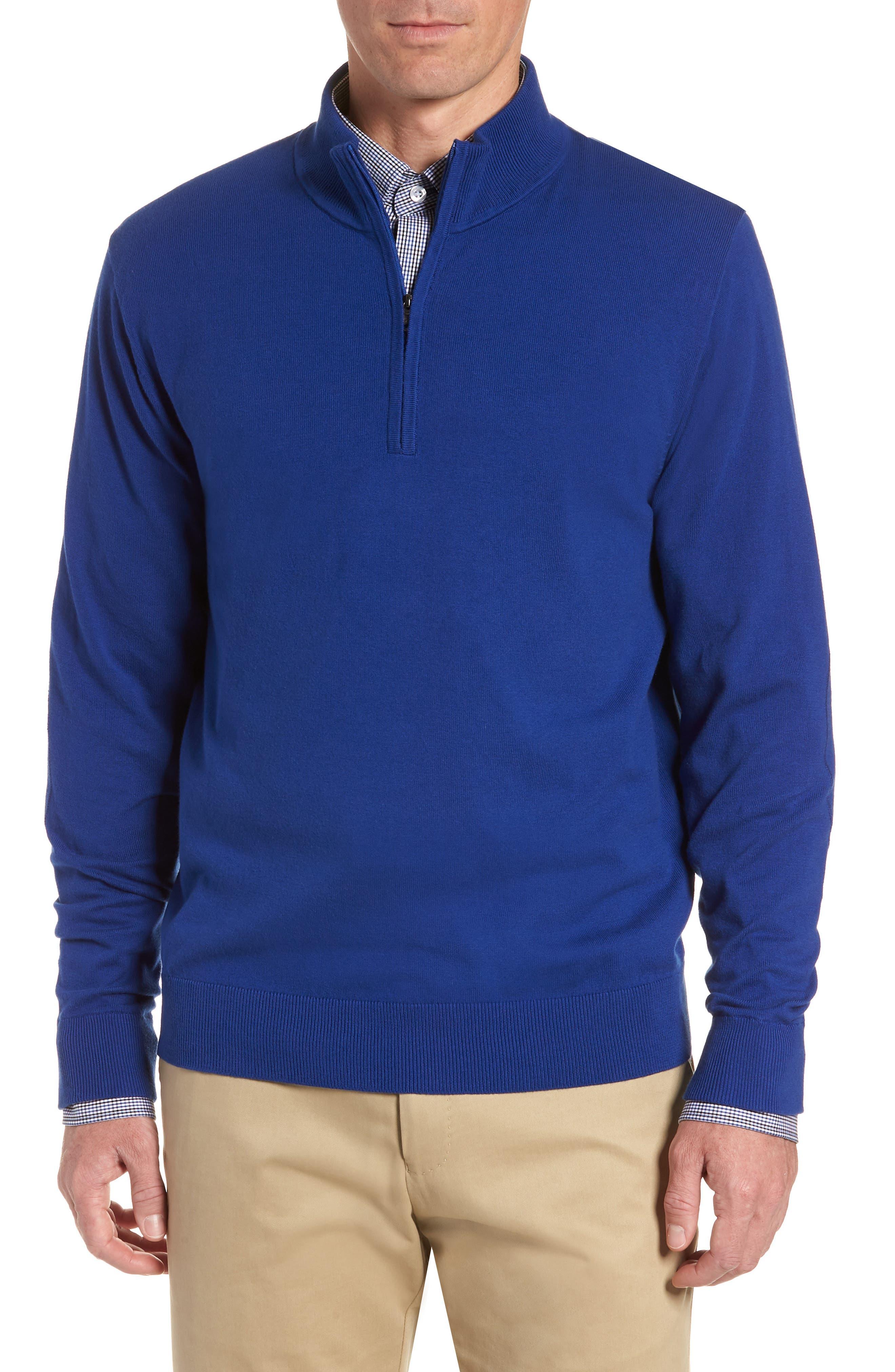 CUTTER & BUCK, Lakemont Half Zip Sweater, Main thumbnail 1, color, 419