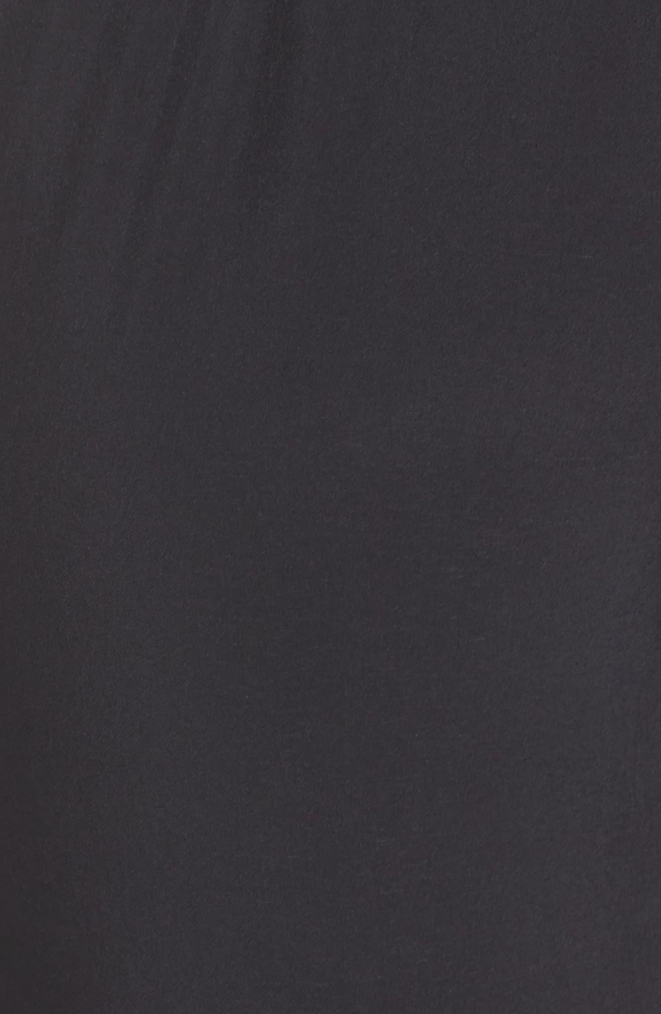 ZELLA, Urban Fold Down Waist Ankle Pants, Alternate thumbnail 7, color, BLACK