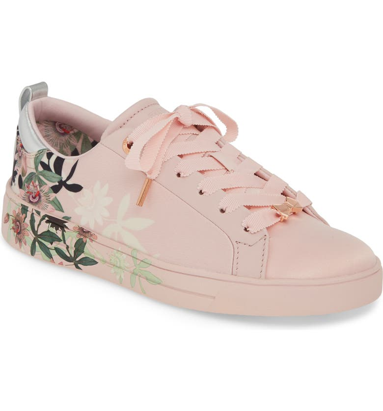 TED BAKER LONDON Rialy Sneaker, Main, color, PINK ILLUSION SATIN