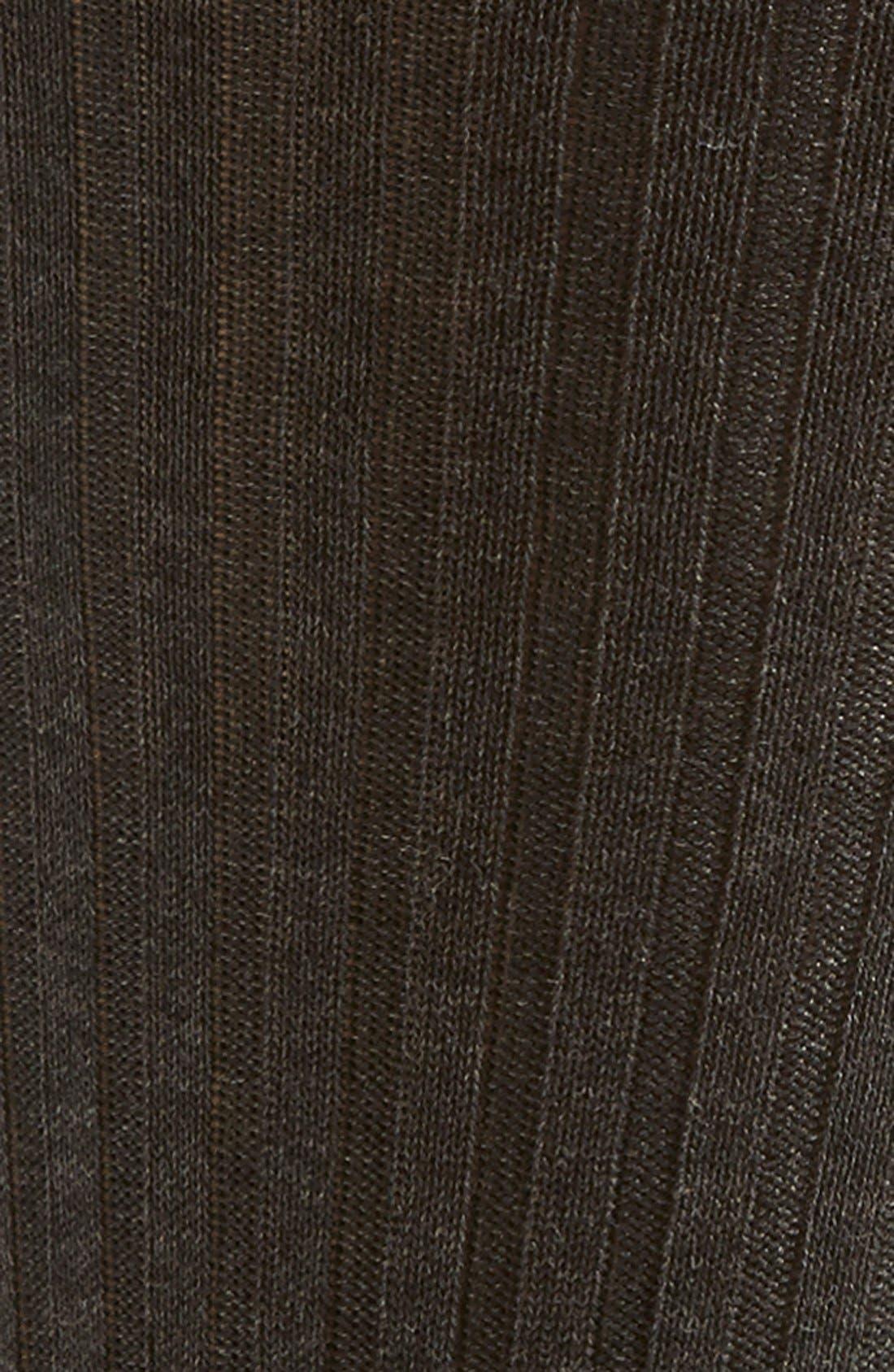 PANTHERELLA, Cotton Blend Mid Calf Dress Socks, Alternate thumbnail 2, color, DARK GREY 08