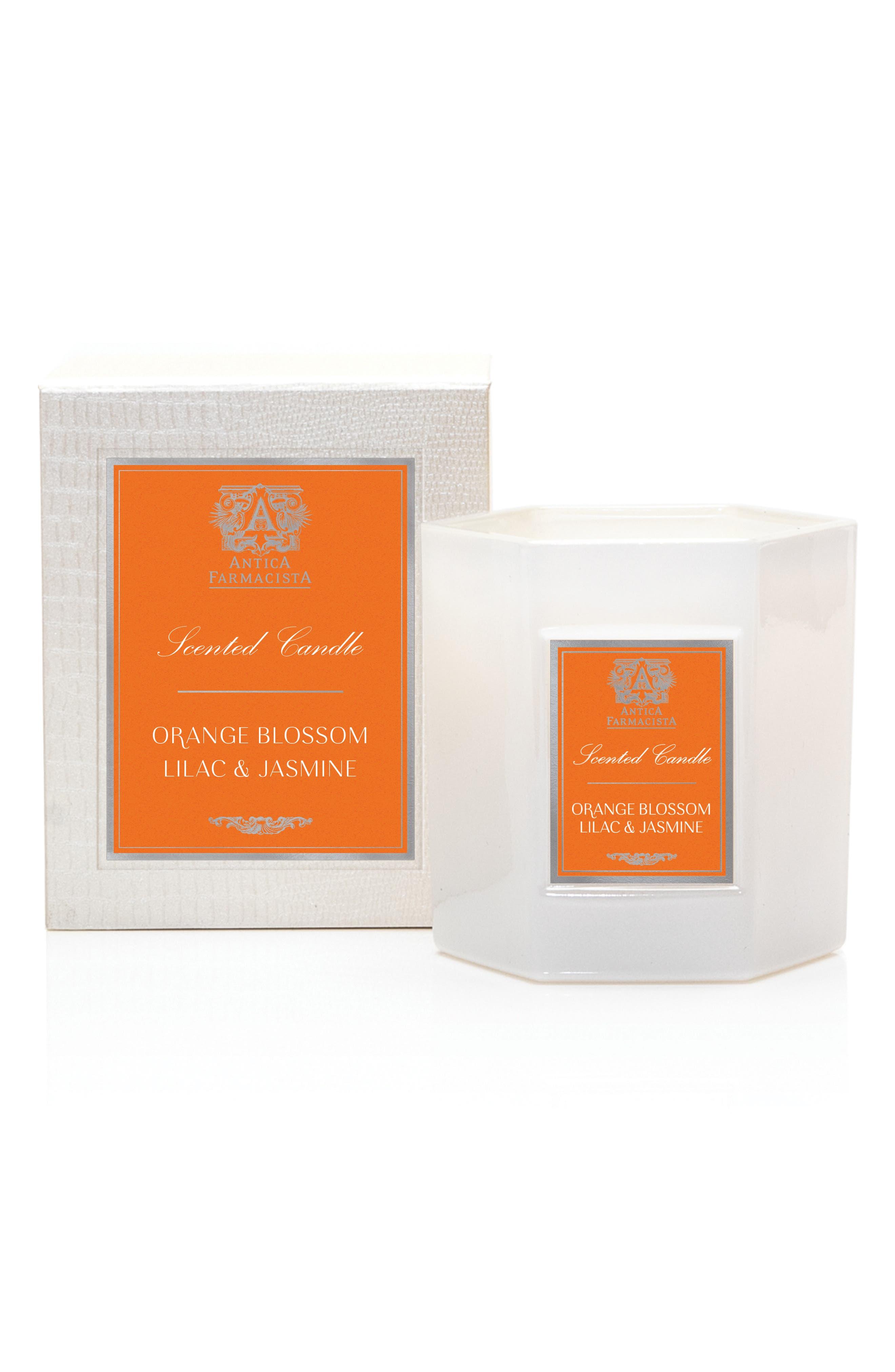 ANTICA FARMACISTA Orange Blossom, Lilac and Jasmine Hexagonal Candle, Main, color, NO COLOR