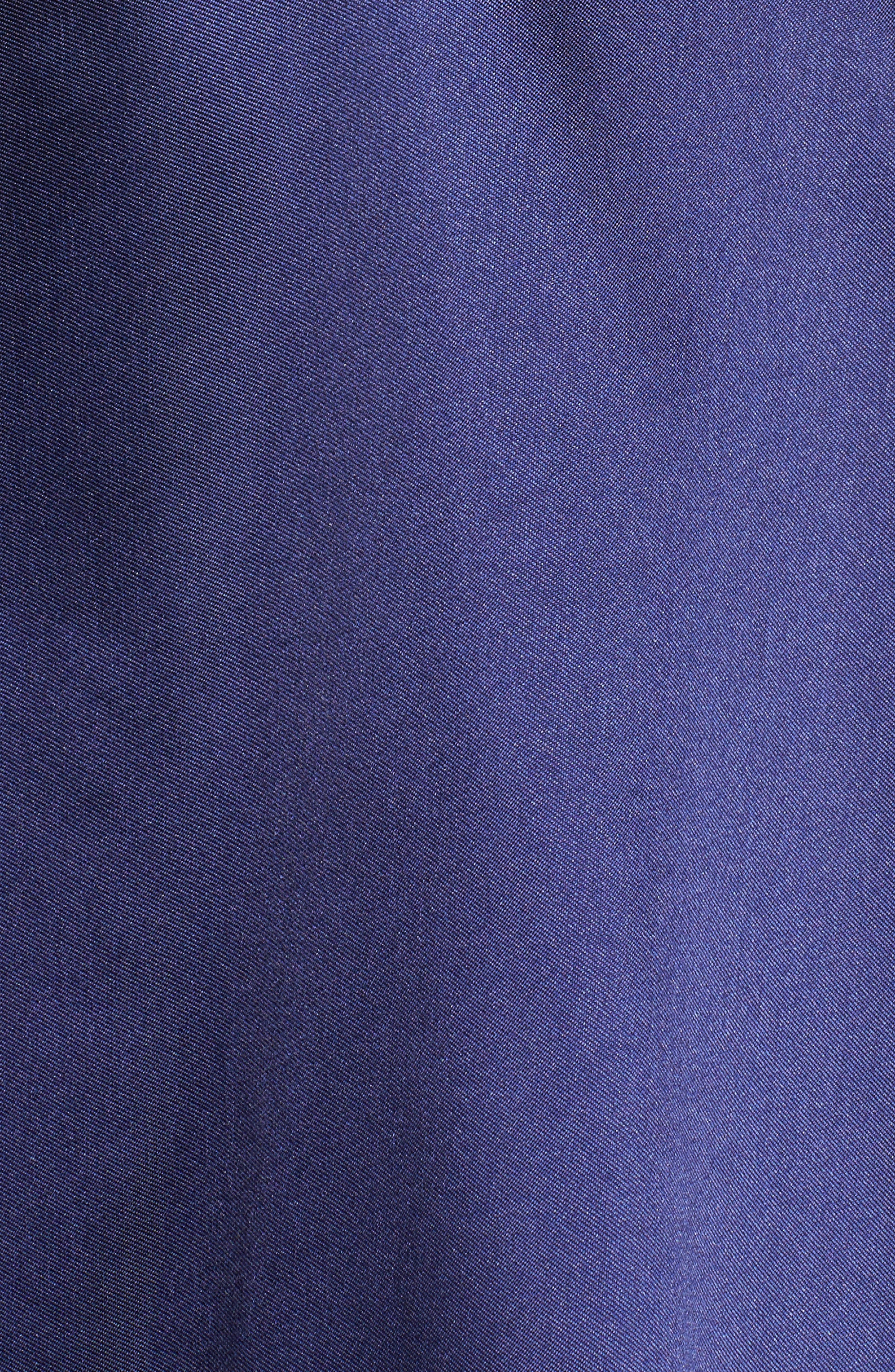 IEENA FOR MAC DUGGAL, Plunging Sweetheart Neck Ballgown, Alternate thumbnail 5, color, NAVY