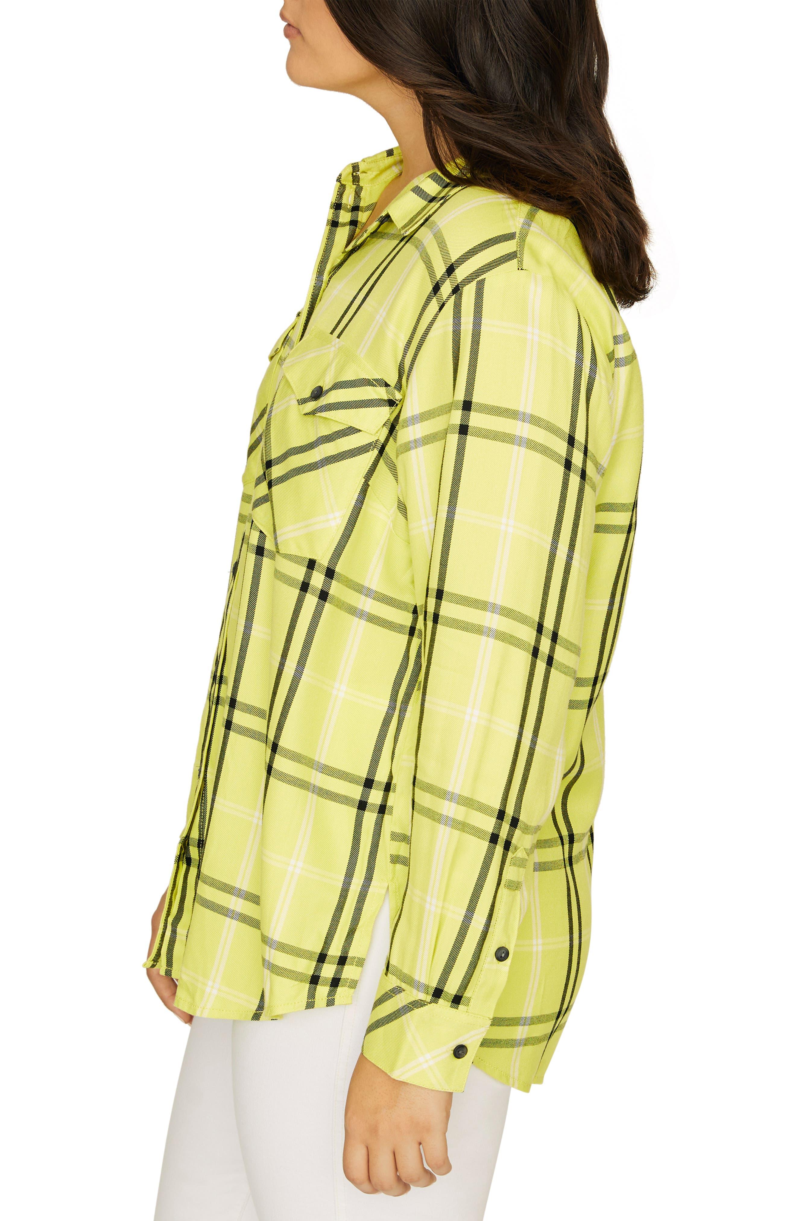 SANCTUARY, Boyfriend for Life Oversize Check Shirt, Alternate thumbnail 3, color, 700