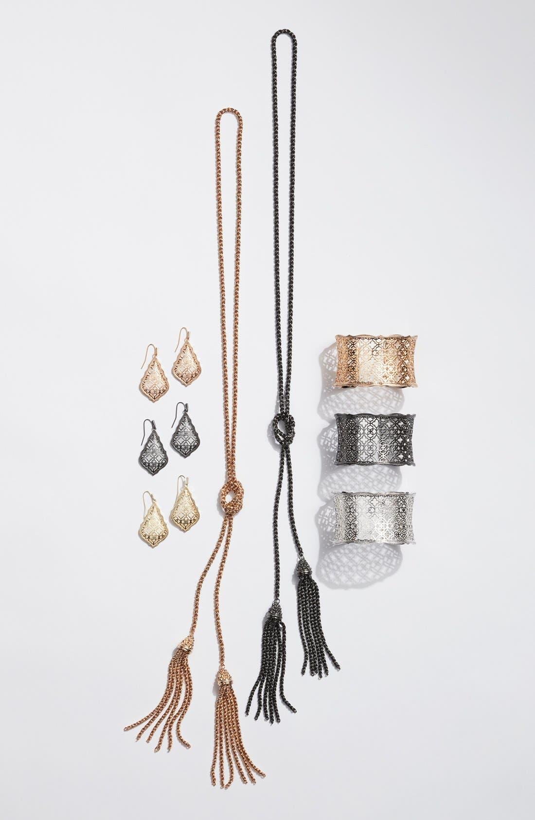 KENDRA SCOTT, 'Jake' Lariat Pendant Necklace, Alternate thumbnail 4, color, 001