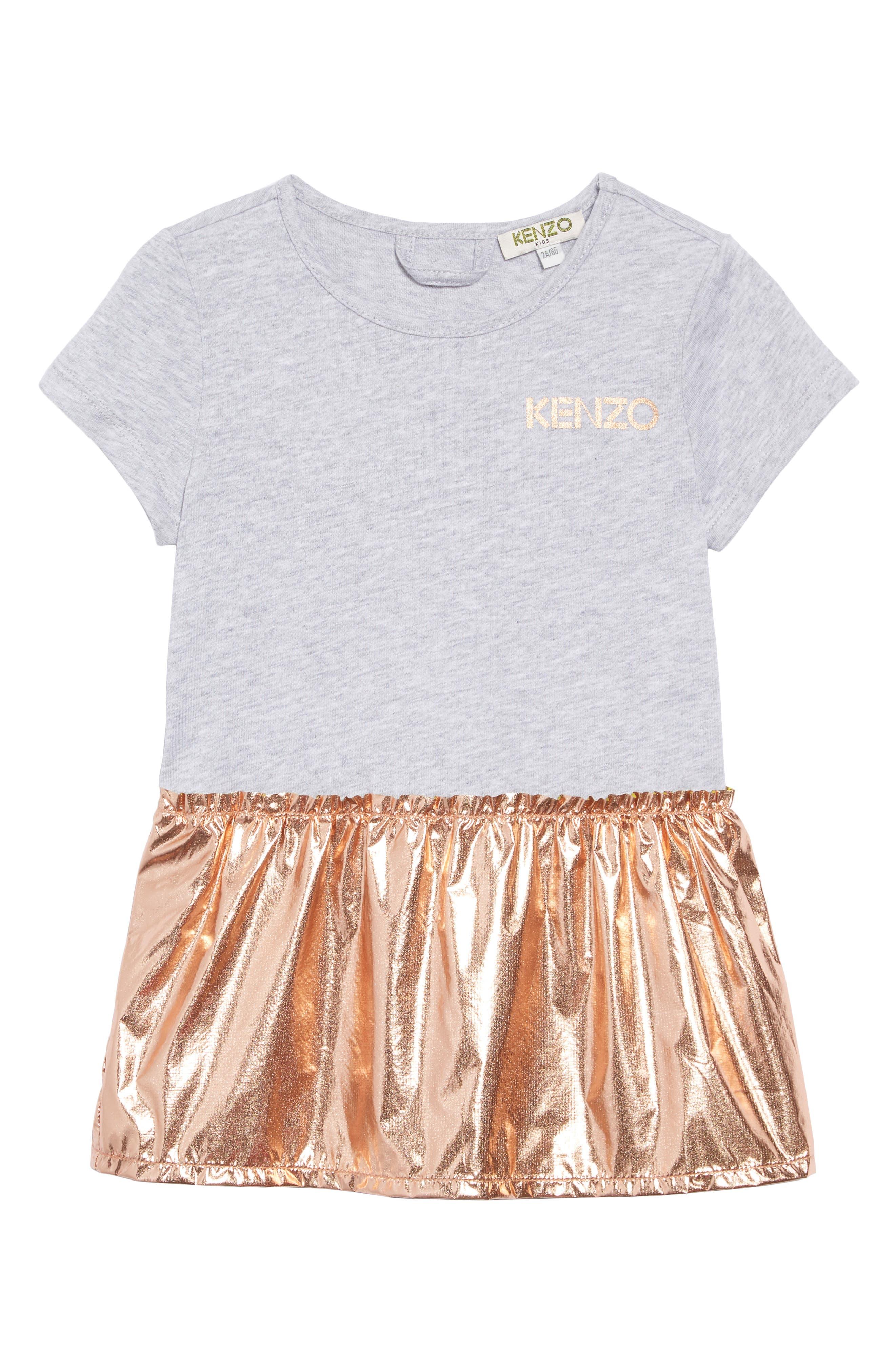 KENZO, Metallic Graphic Sweatshirt & Dress Set, Alternate thumbnail 3, color, COPPER