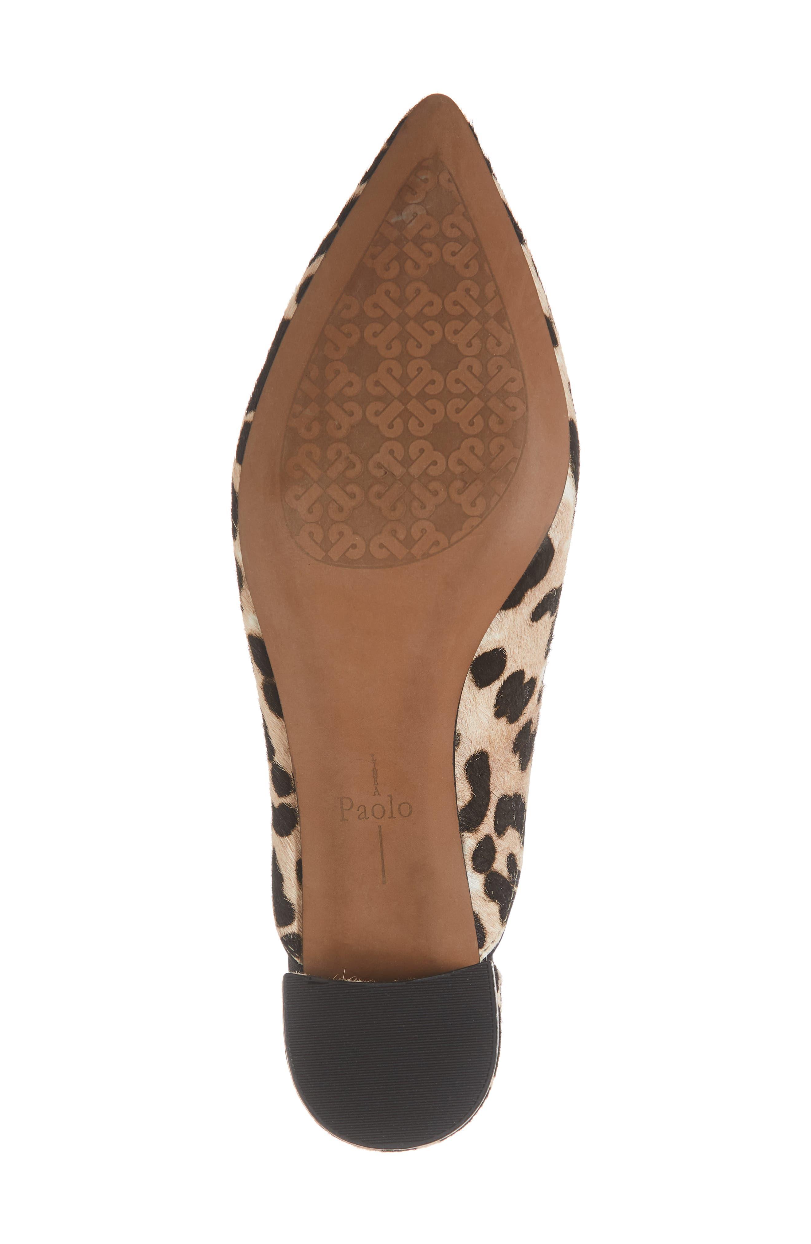 LINEA PAOLO, Zadie II Genuine Calf Hair Mule, Alternate thumbnail 6, color, LEOPARD HAIRCALF