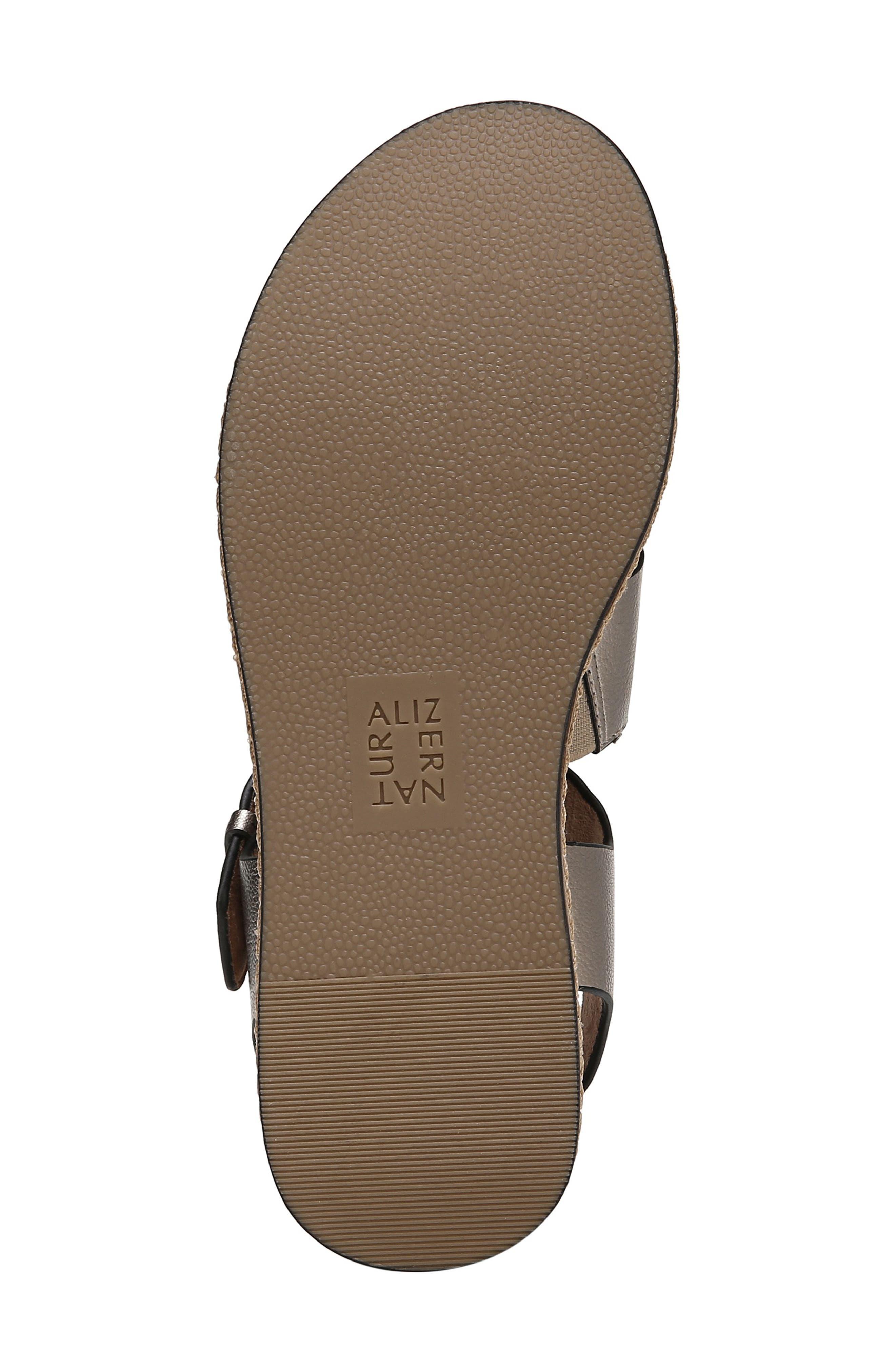 NATURALIZER, Billie Platform Sandal, Alternate thumbnail 6, color, LIGHT BRONZE METAL