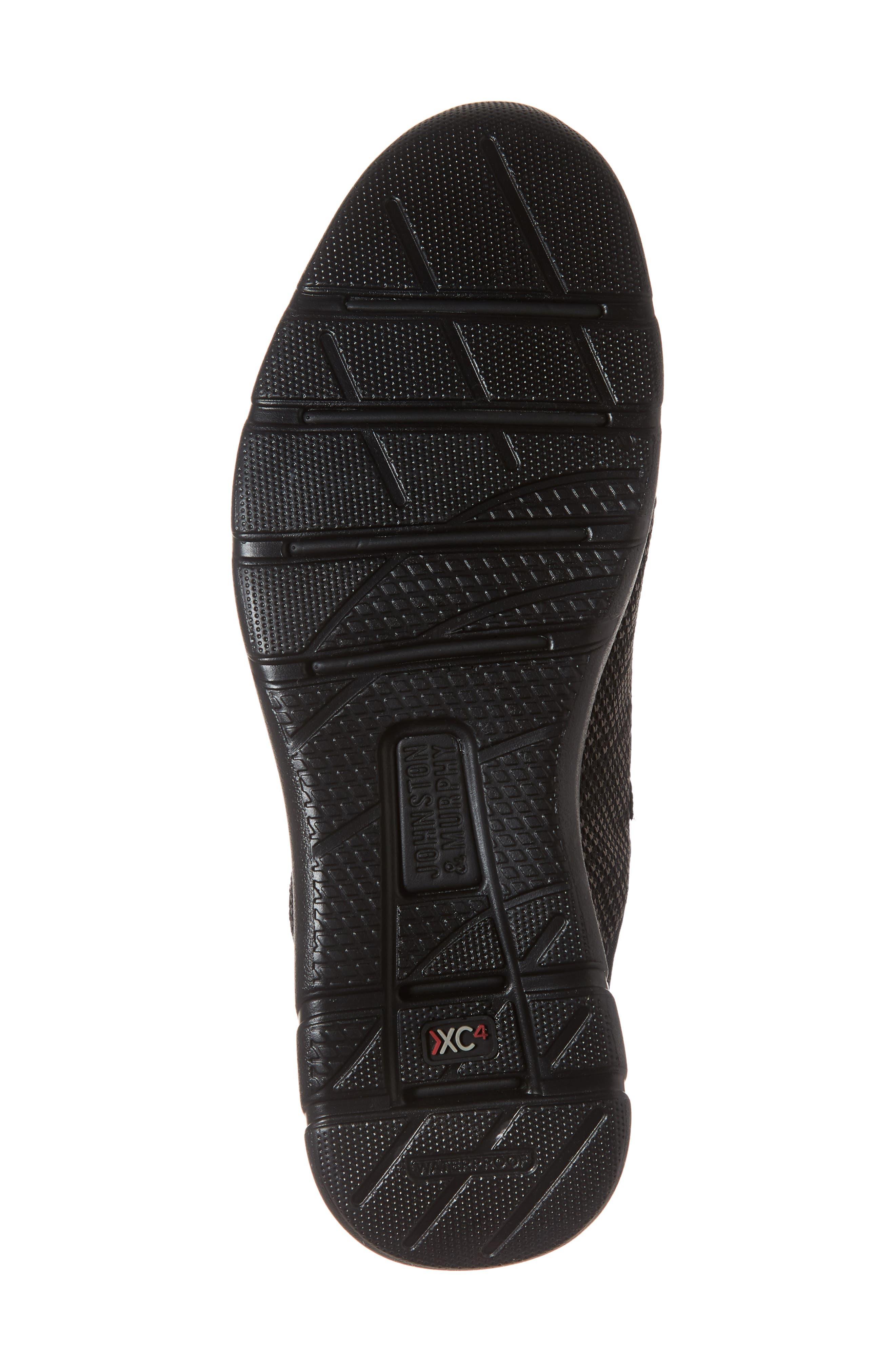 JOHNSTON & MURPHY, Prentiss XC4<sup>®</sup> Waterproof Sneaker, Alternate thumbnail 6, color, BLACK LEATHER