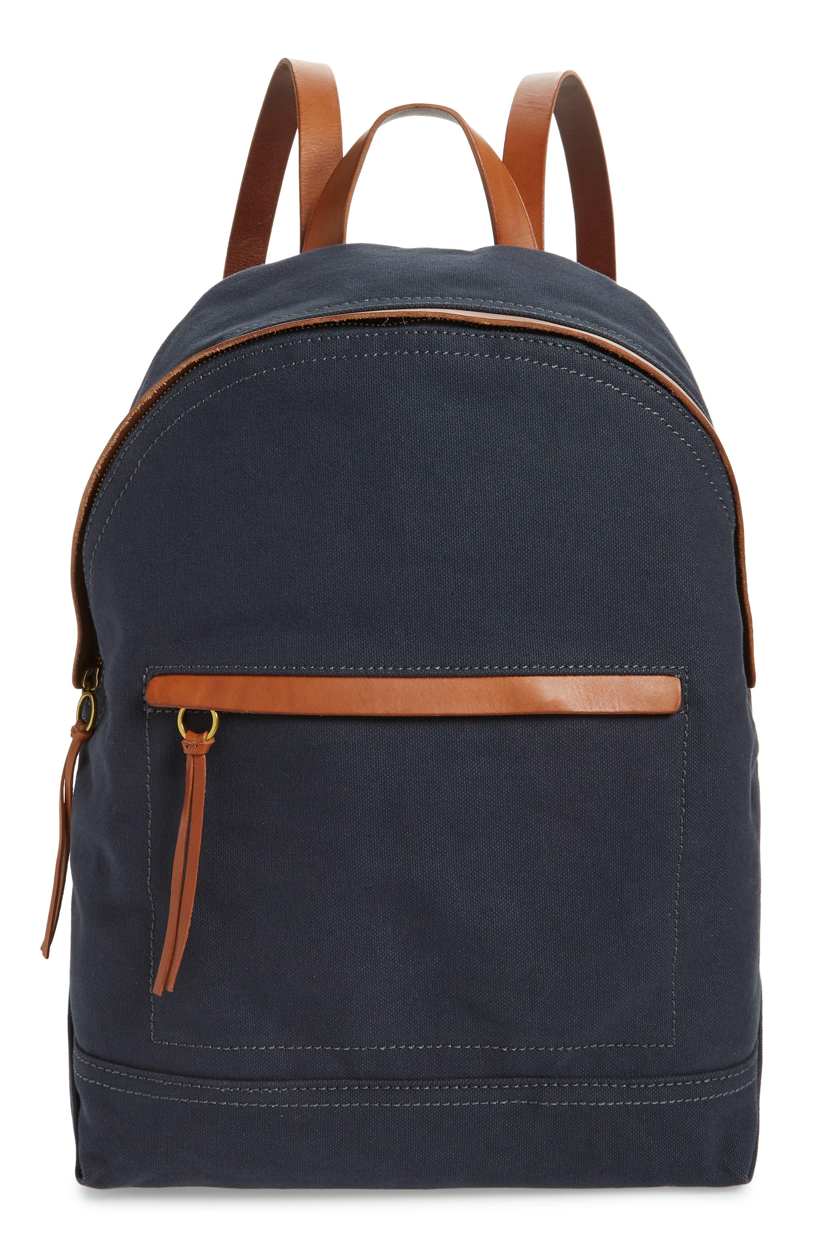 MADEWELL, The Charleston Backpack, Main thumbnail 1, color, BLACK SEA