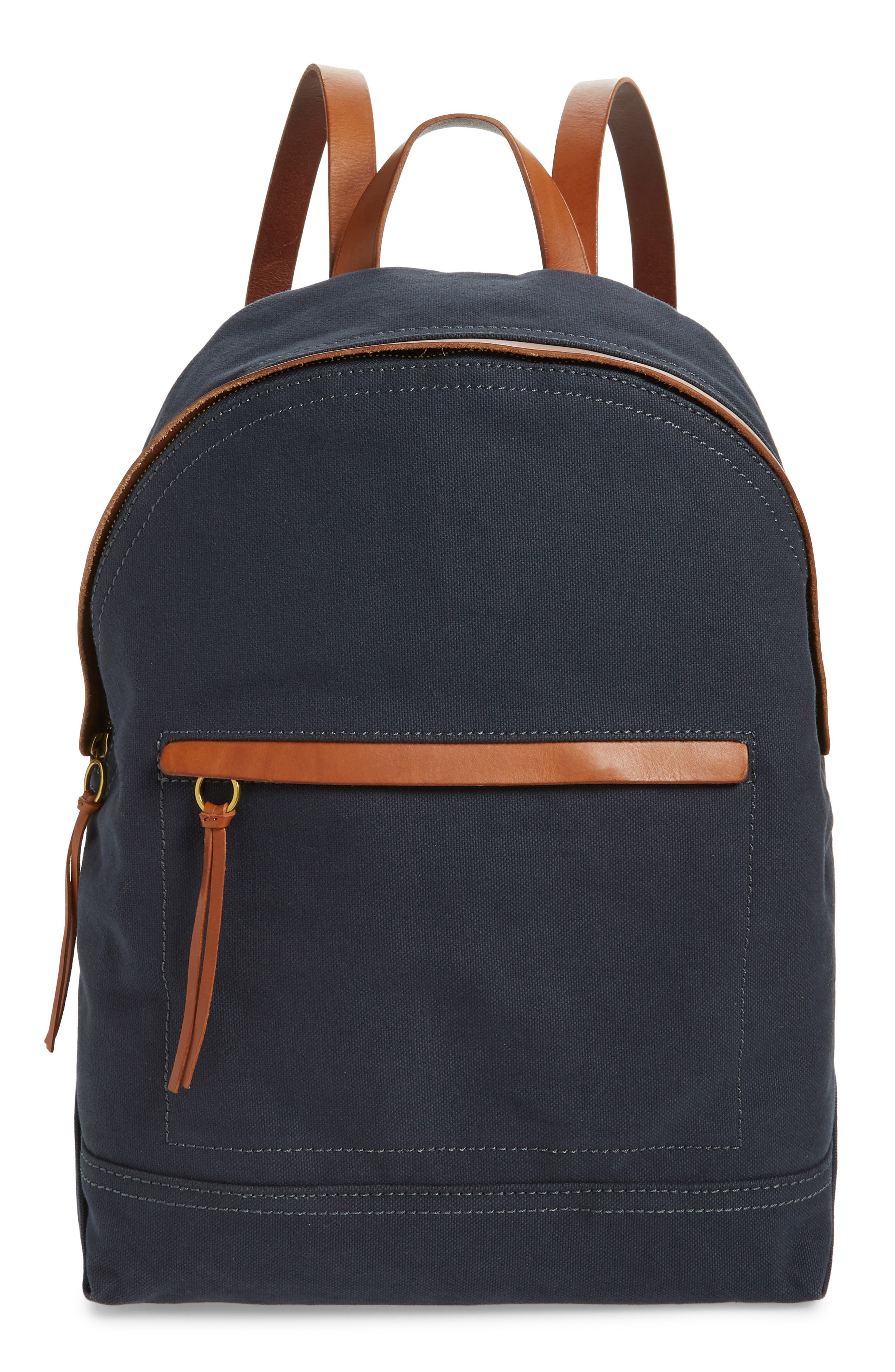 MADEWELL The Charleston Backpack, Main, color, BLACK SEA