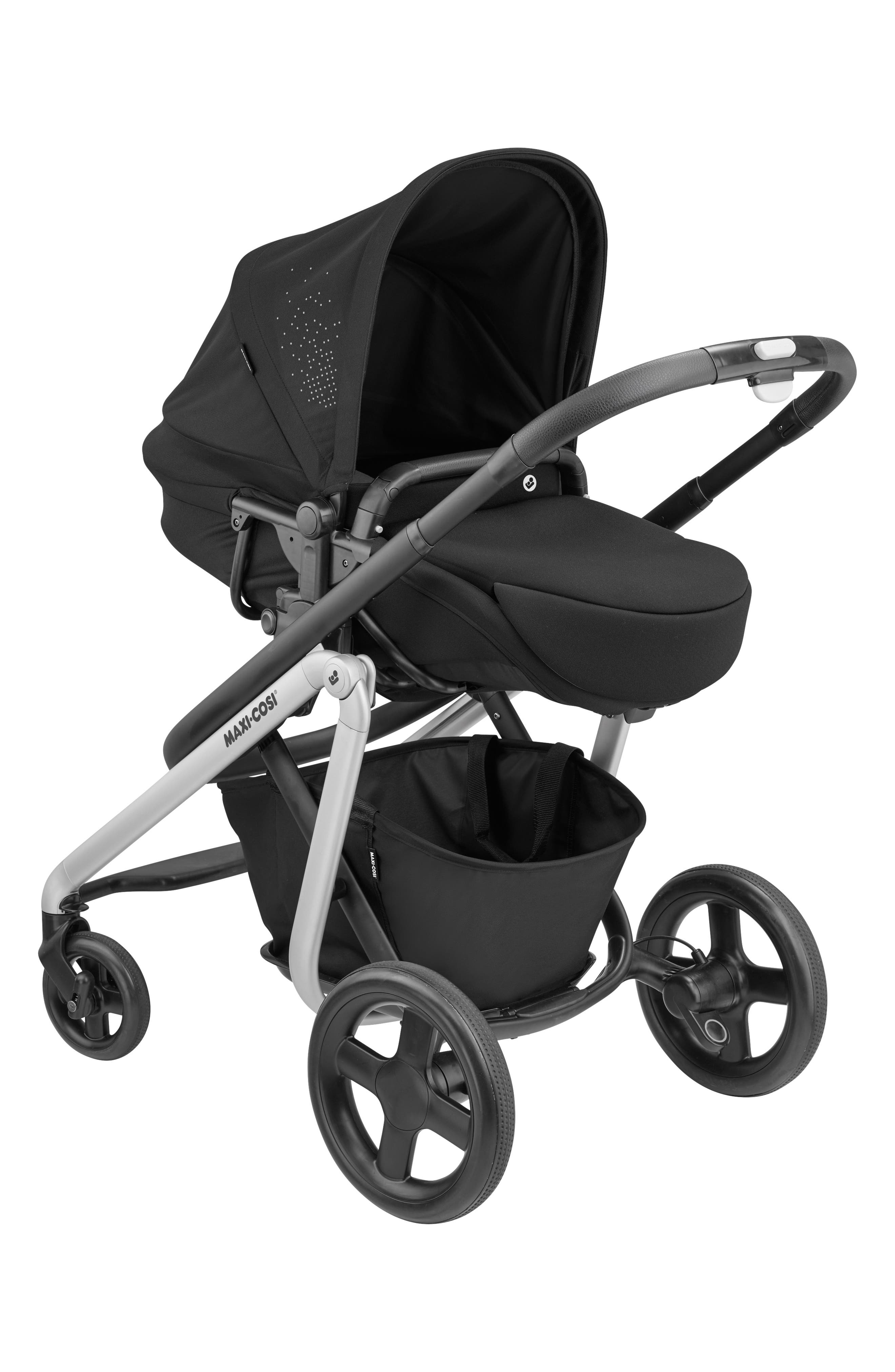MAXI-COSI<SUP>®</SUP>, Lila Modular Stroller, Alternate thumbnail 8, color, NOMAD BLACK