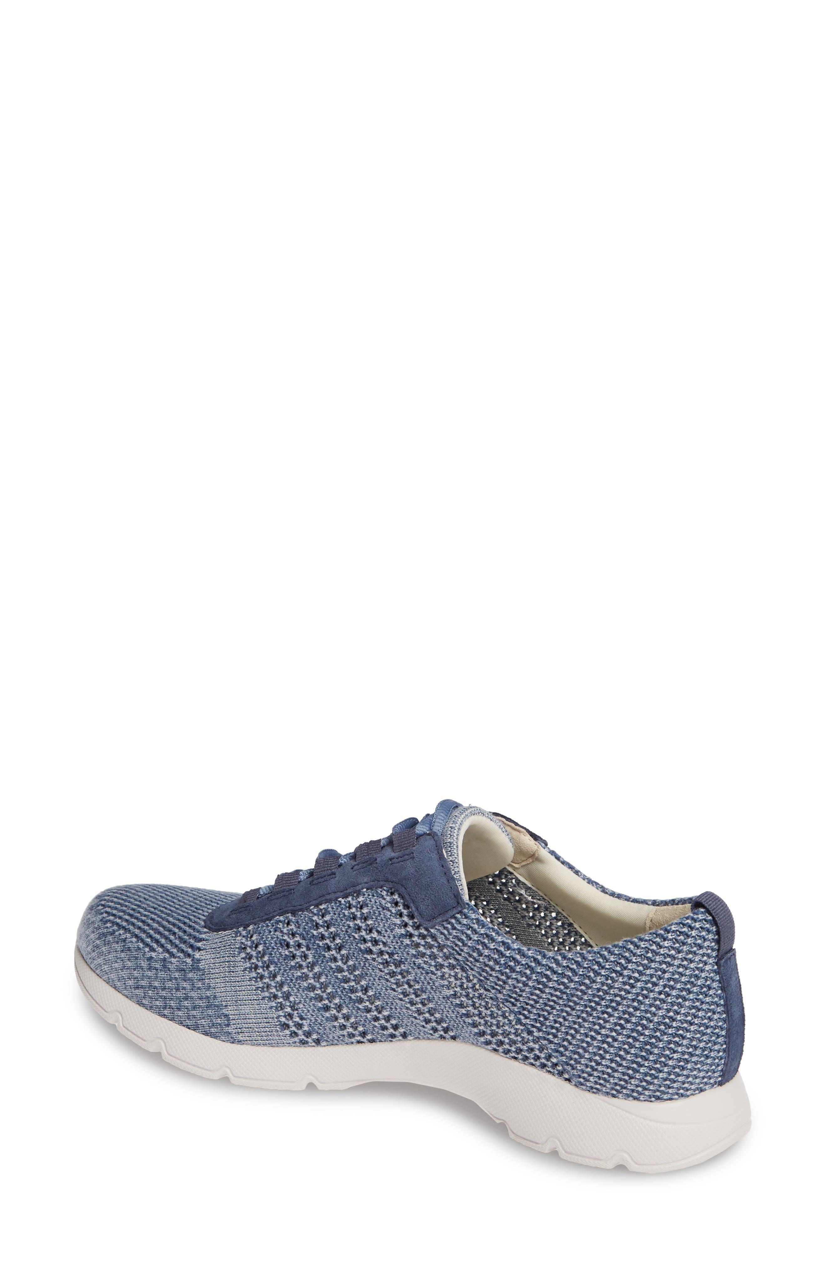 DANSKO, Adrianne Sneaker, Alternate thumbnail 2, color, DENIM