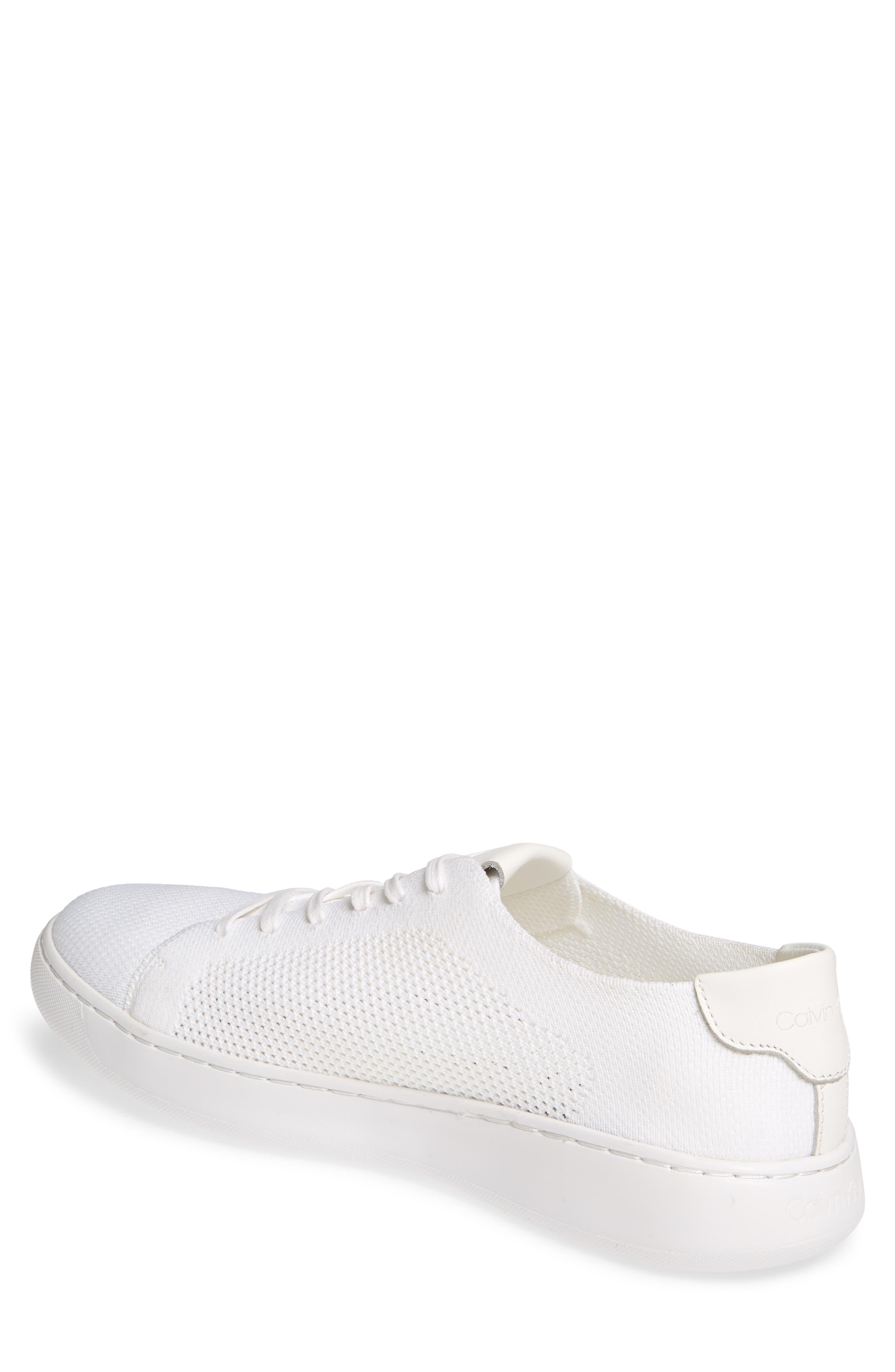 CALVIN KLEIN, Freeport Sneaker, Alternate thumbnail 2, color, WHITE