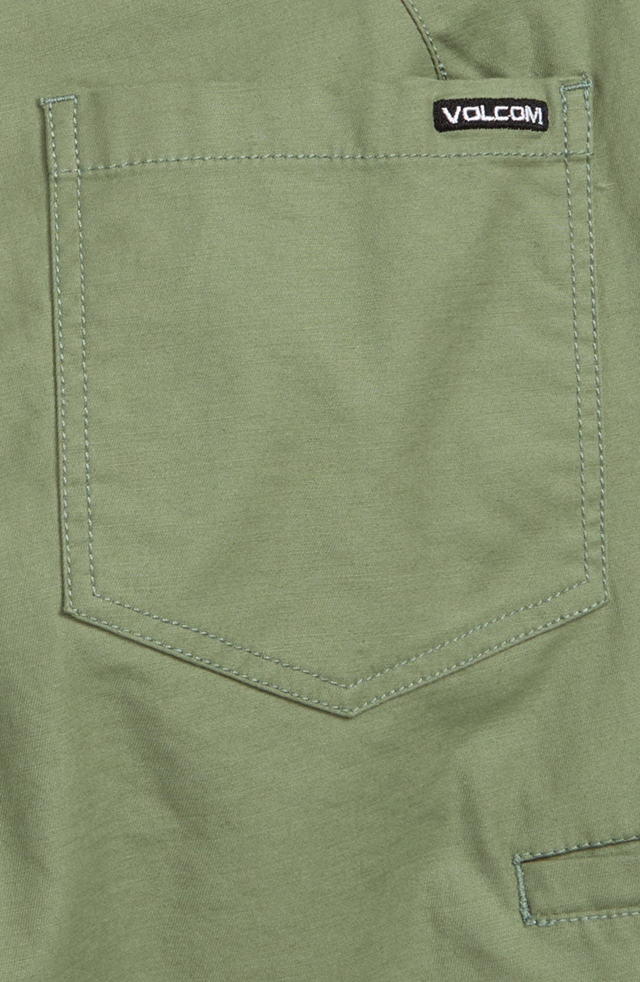 VOLCOM, Riser Shorts, Alternate thumbnail 3, color, FADED ARMY