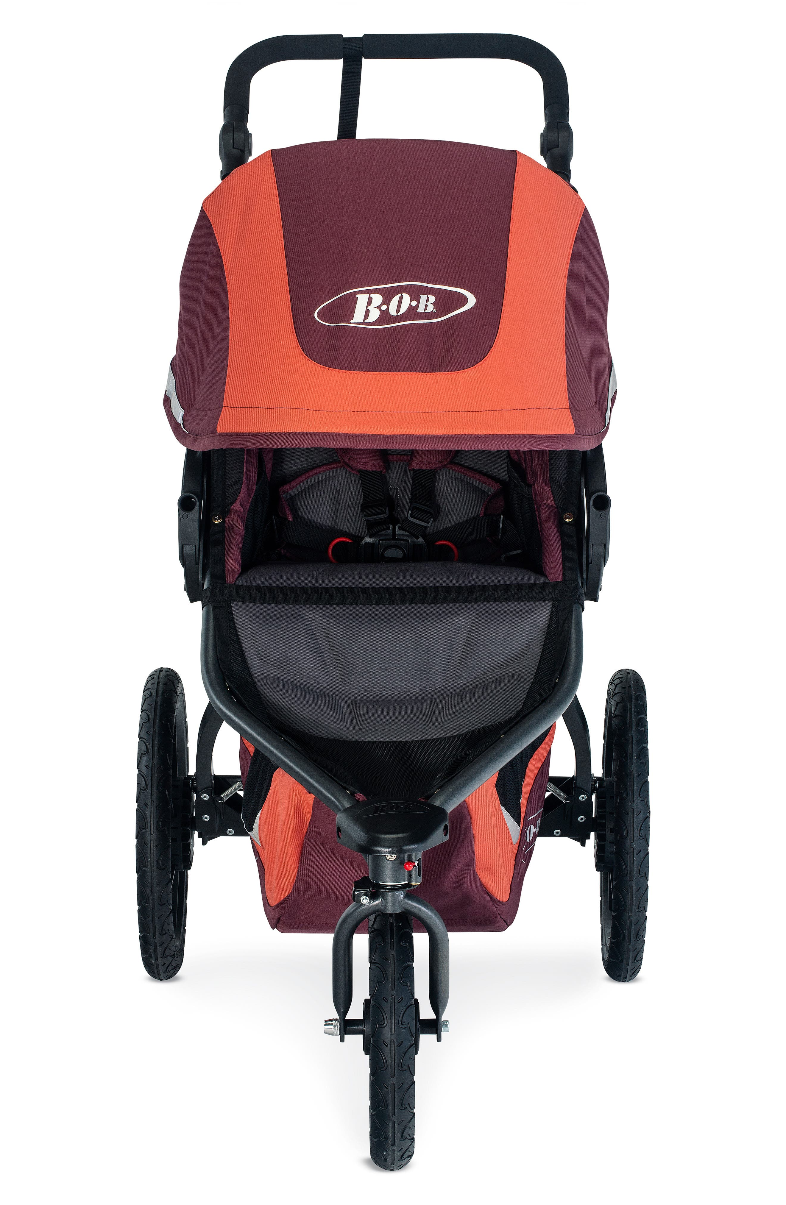 BOB Revolution FLEX 3 Single Jogging Stroller, Main, color, SEDONA ORANGE