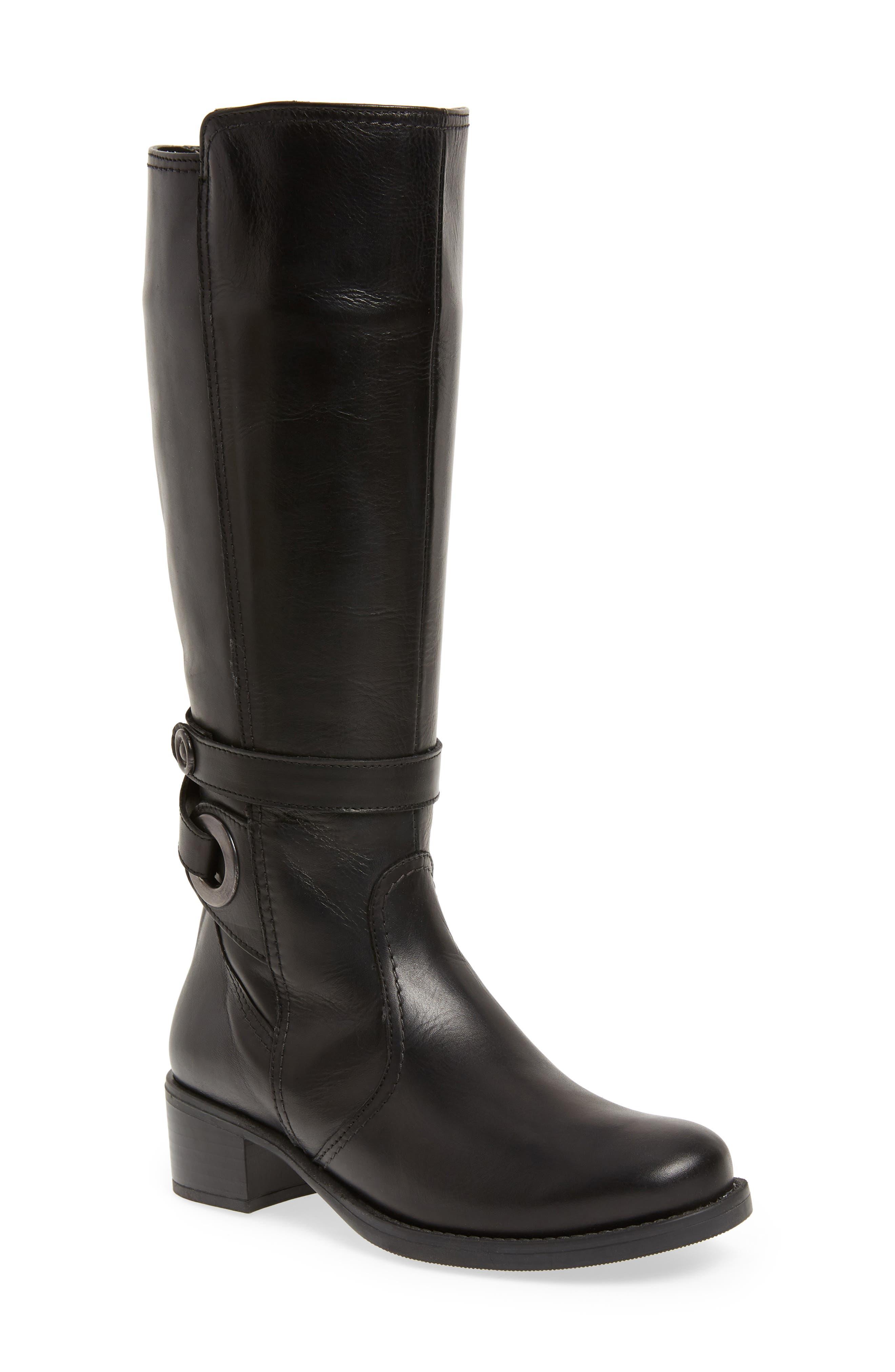 DAVID TATE Portofino Boot, Main, color, BLACK LEATHER
