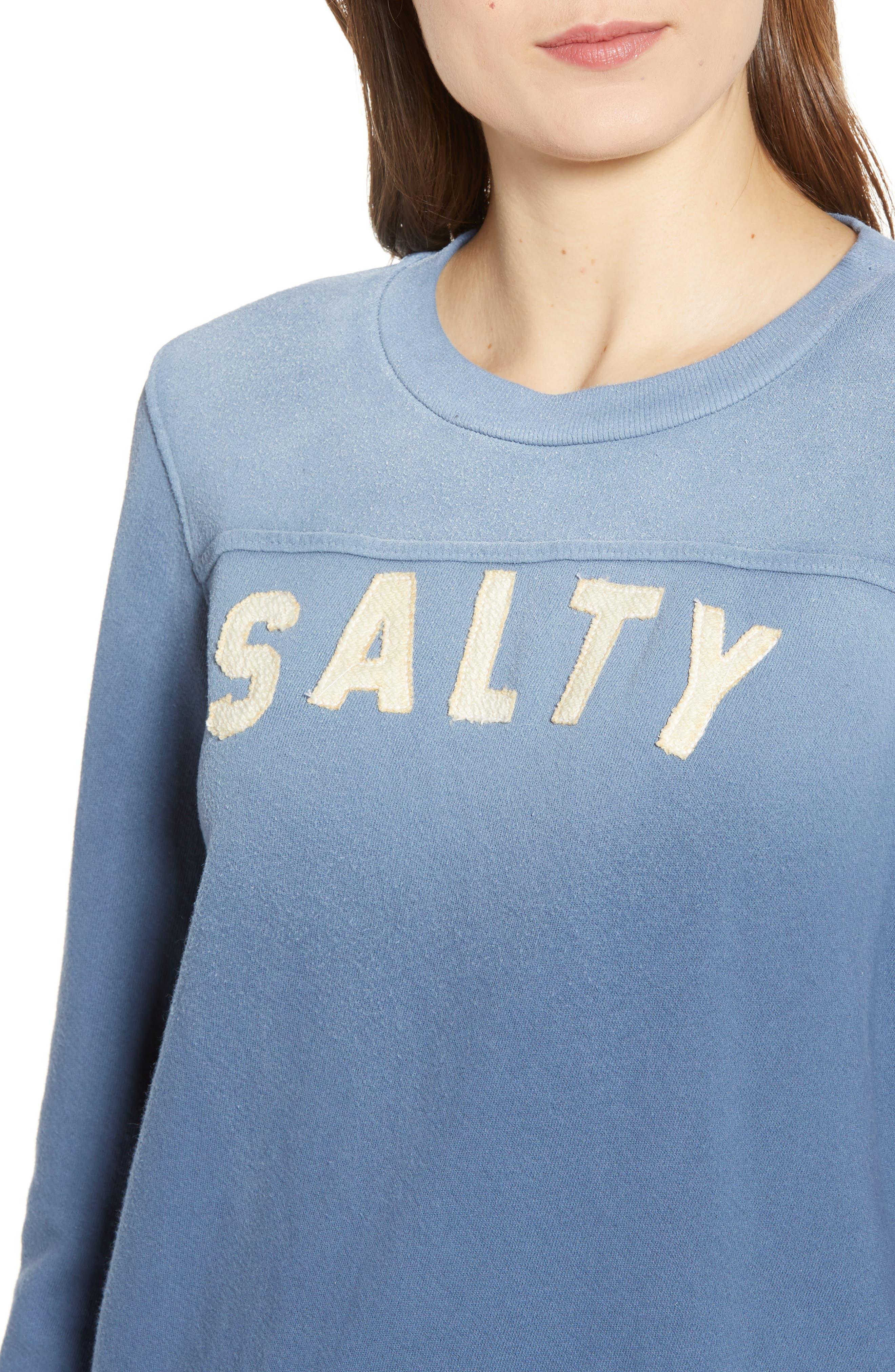 MOTHER, 1/2 & 1/2 Sweatshirt, Alternate thumbnail 4, color, SALTY