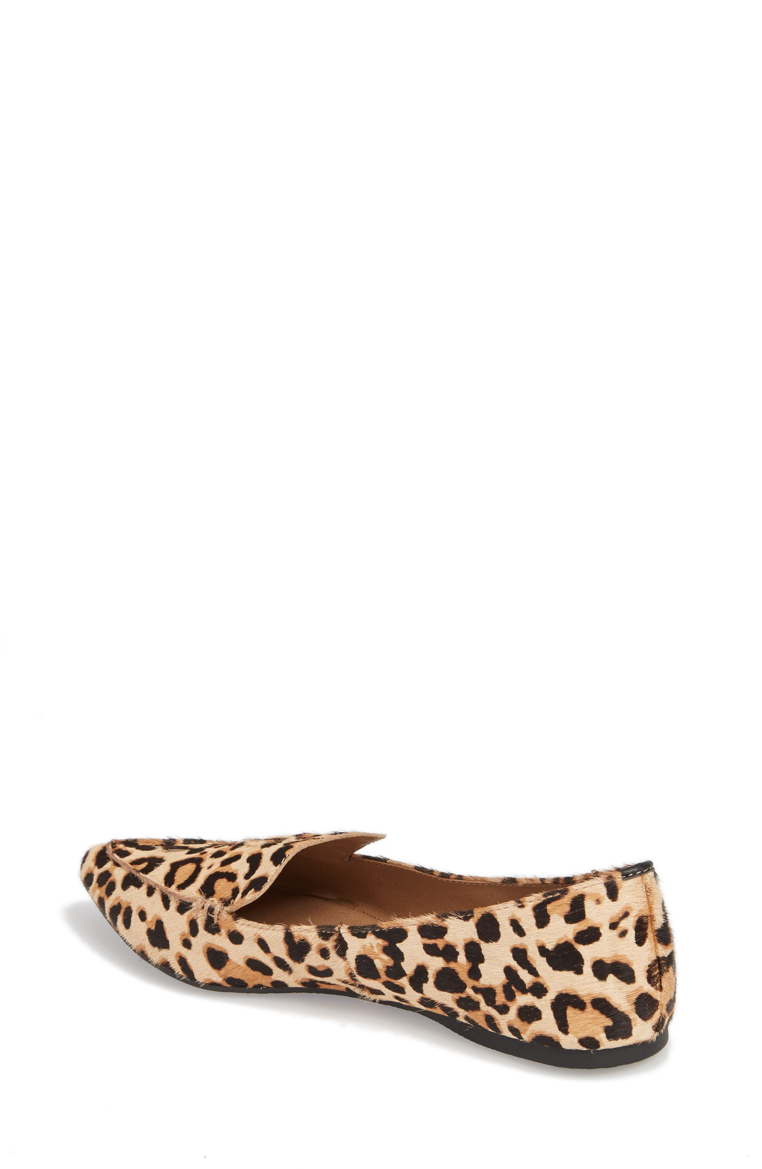 STEVE MADDEN, Feather-L Genuine Calf Hair Loafer Flat, Alternate thumbnail 2, color, LEOPARD