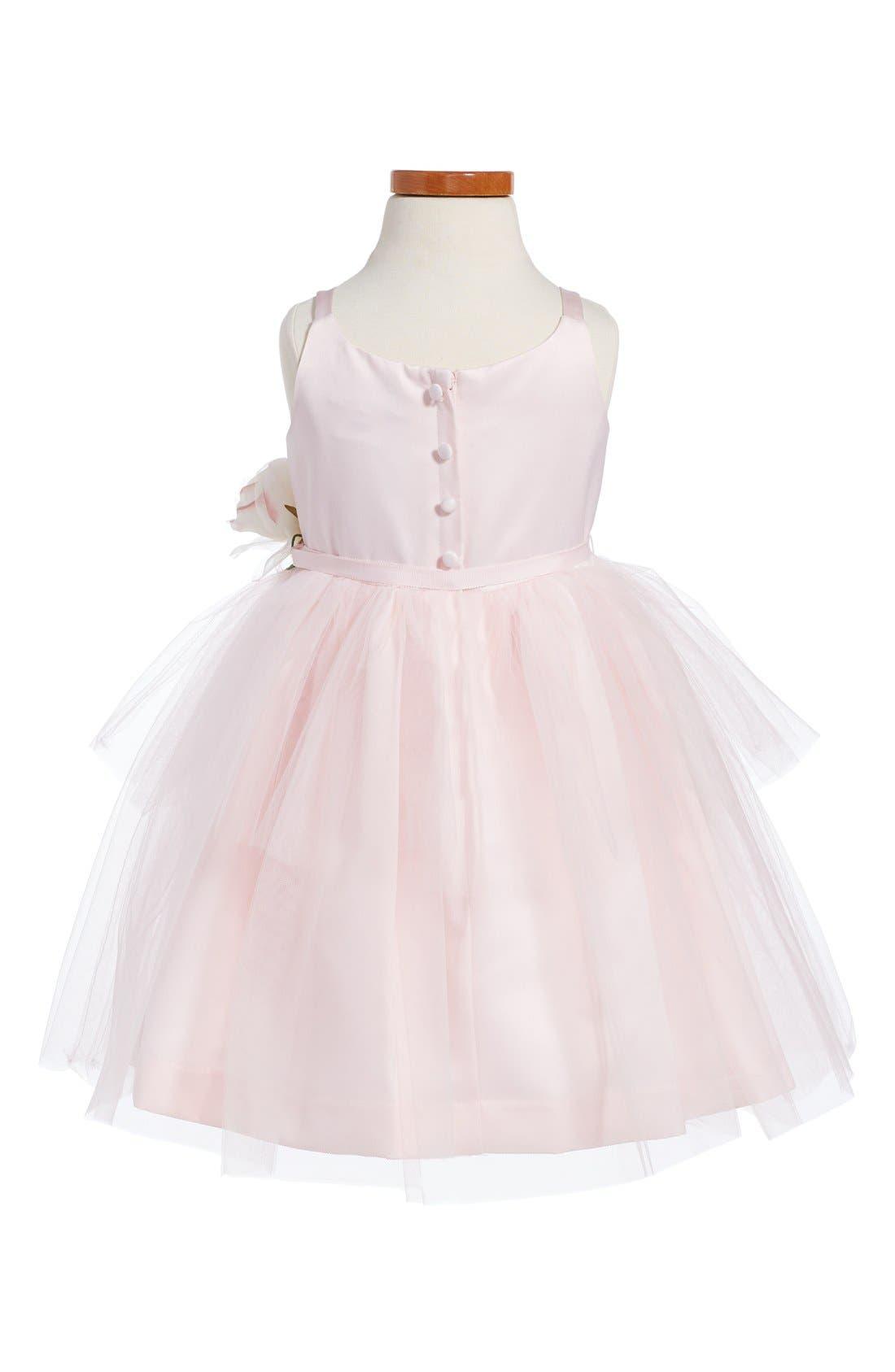 US ANGELS, Tulle Ballerina Dress, Alternate thumbnail 2, color, BLUSH PINK
