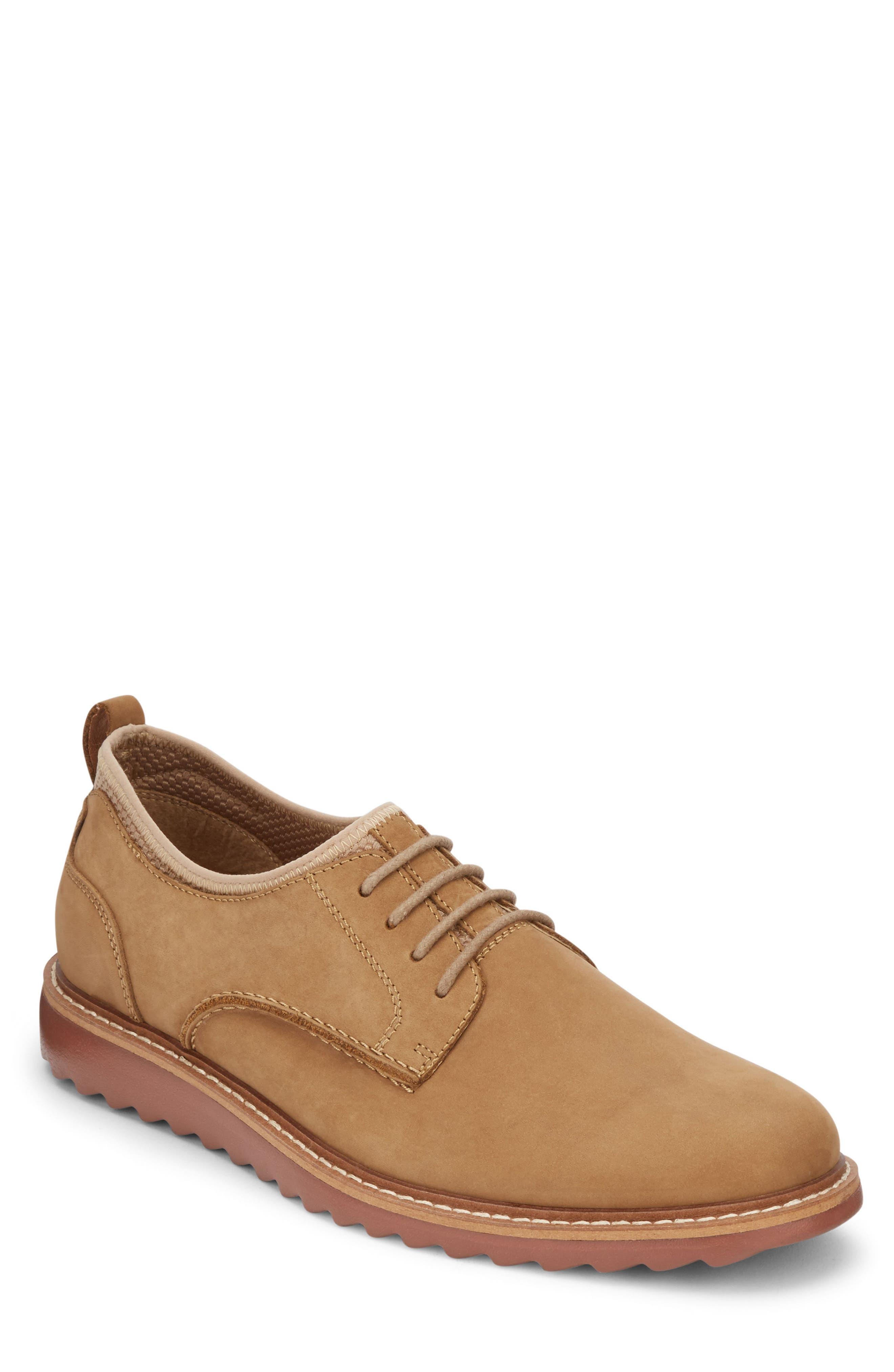 G.H. BASS & CO. Buck 2.0 Plain Toe Derby, Main, color, BROWN NUBUCK