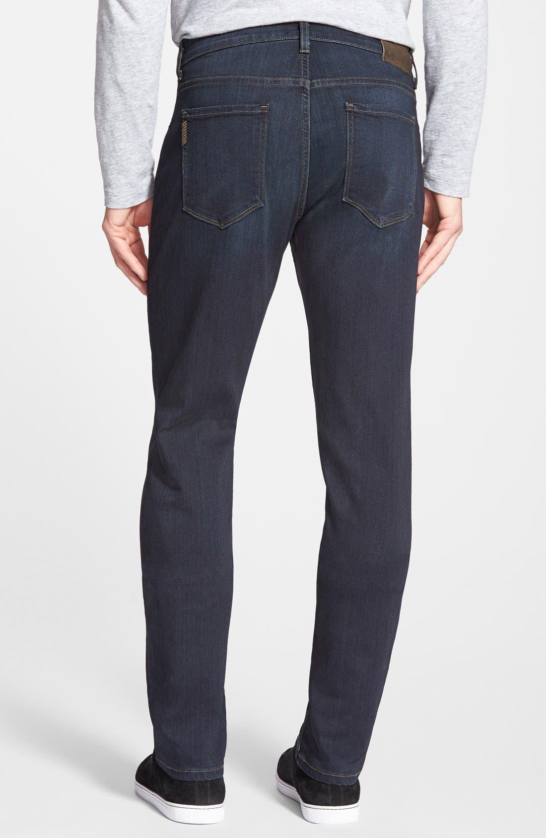 PAIGE, Transcend - Federal Slim Straight Leg Jeans, Alternate thumbnail 5, color, CELLAR/ CELLAR