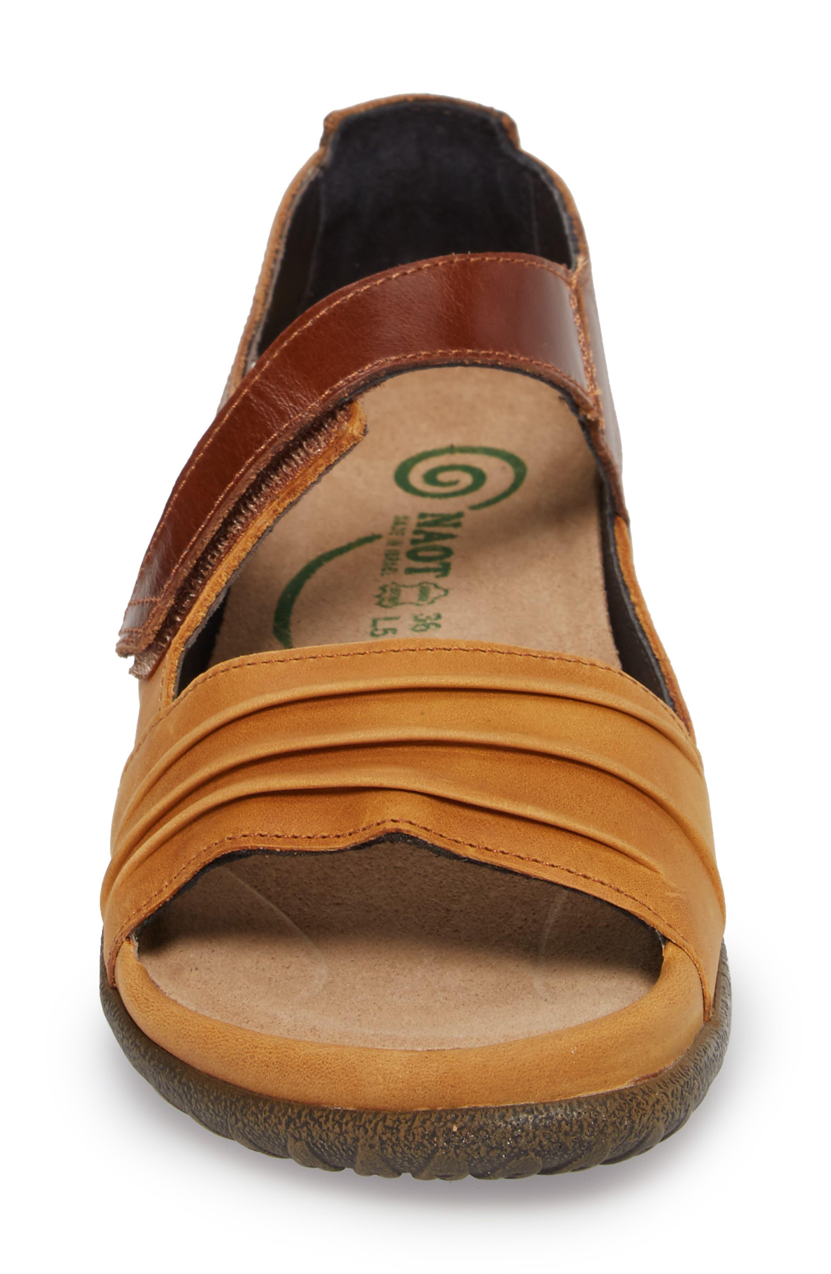 NAOT, 'Papaki' Sandal, Alternate thumbnail 4, color, OILY DUNE NUBUCK