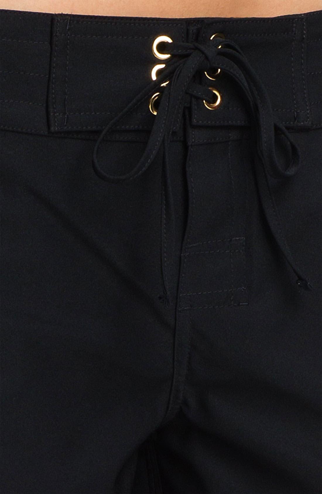 LA BLANCA, 'Boardwalk' Shorts, Alternate thumbnail 2, color, BLACK