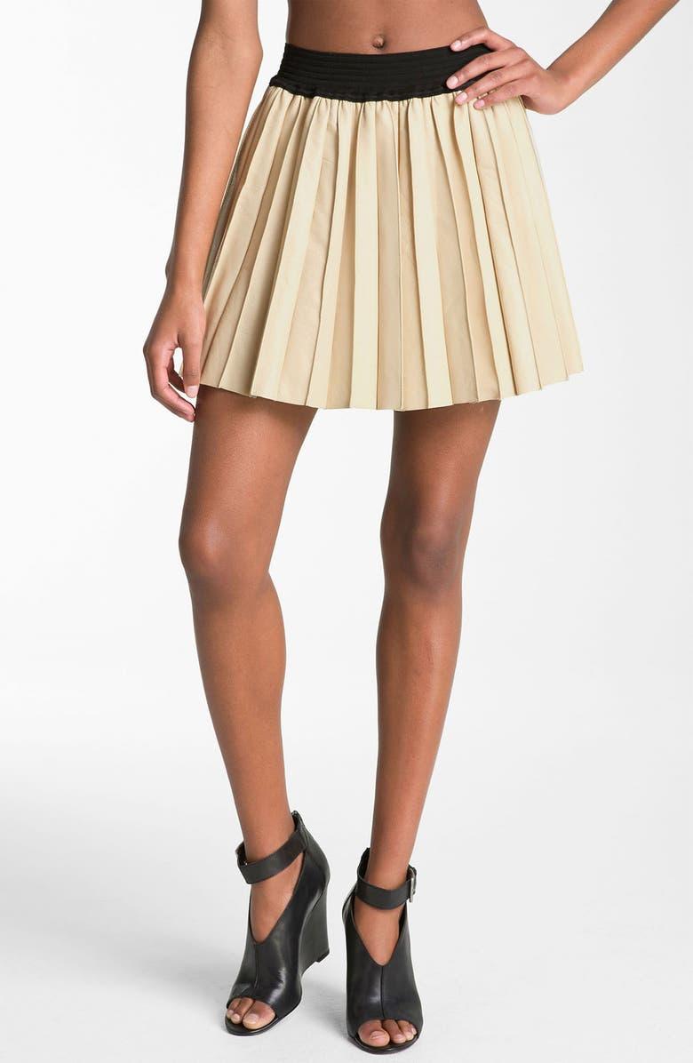 92e6999089 PARKER Pleated Leather Miniskirt, Main, color, 271