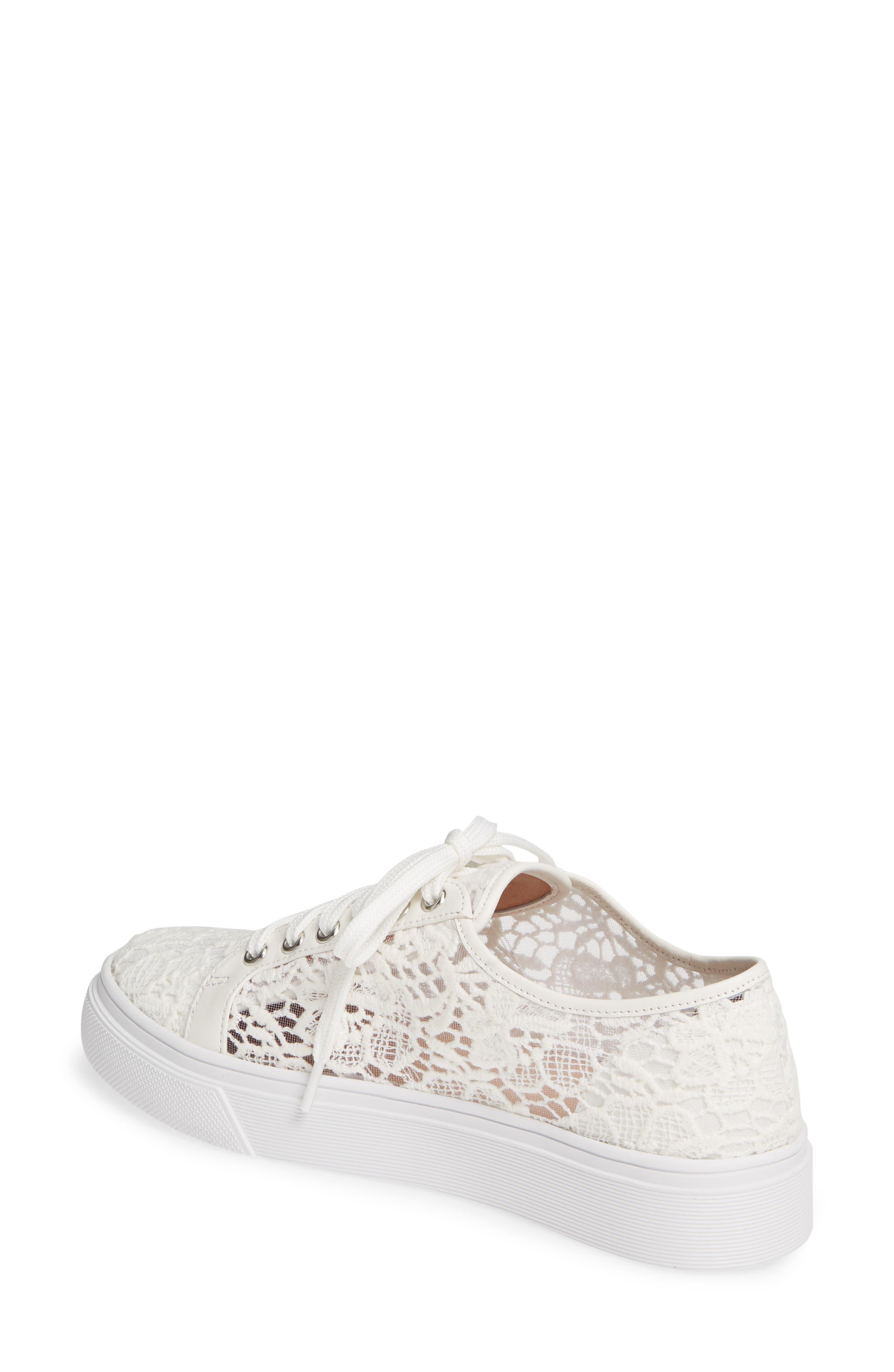 CASLON<SUP>®</SUP>, Payton Lace Sneaker, Alternate thumbnail 2, color, WHITE CROCHET