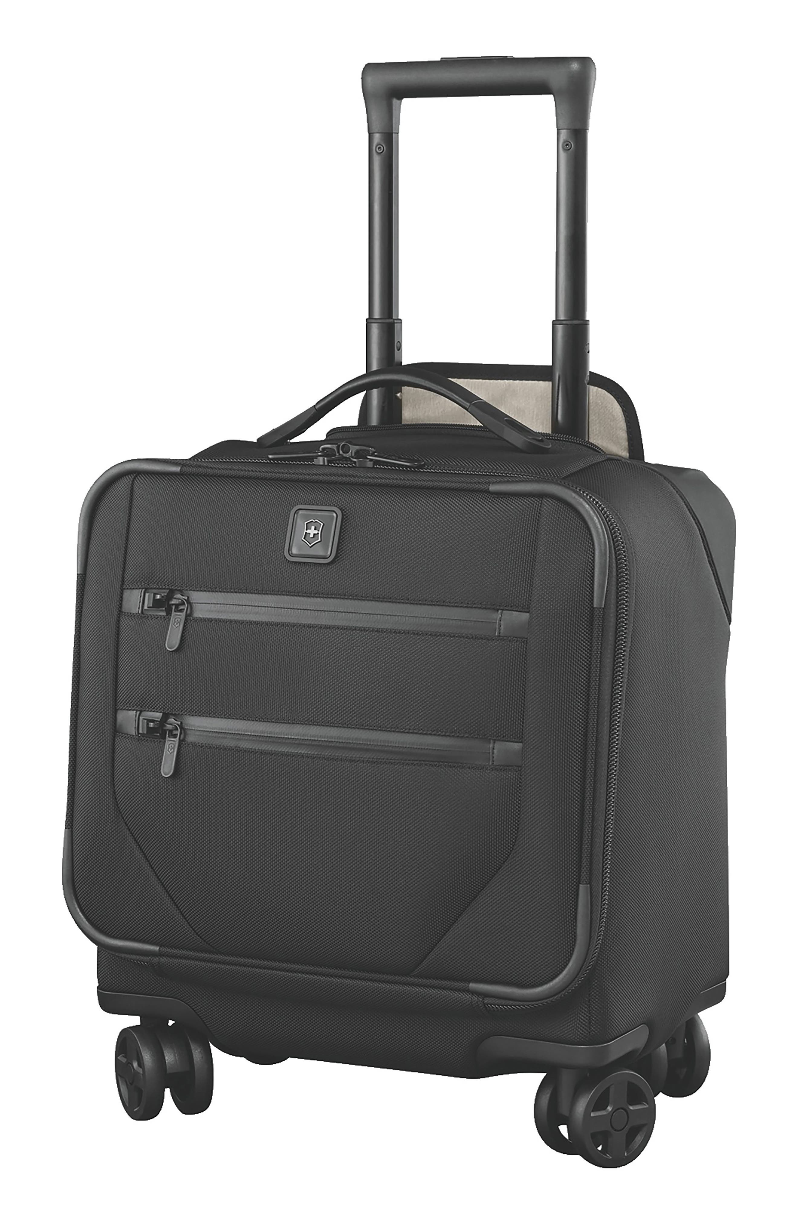 VICTORINOX SWISS ARMY<SUP>®</SUP>, Lexicon 2.0 Dual Caster Wheeled Boarding Tote, Main thumbnail 1, color, BLACK