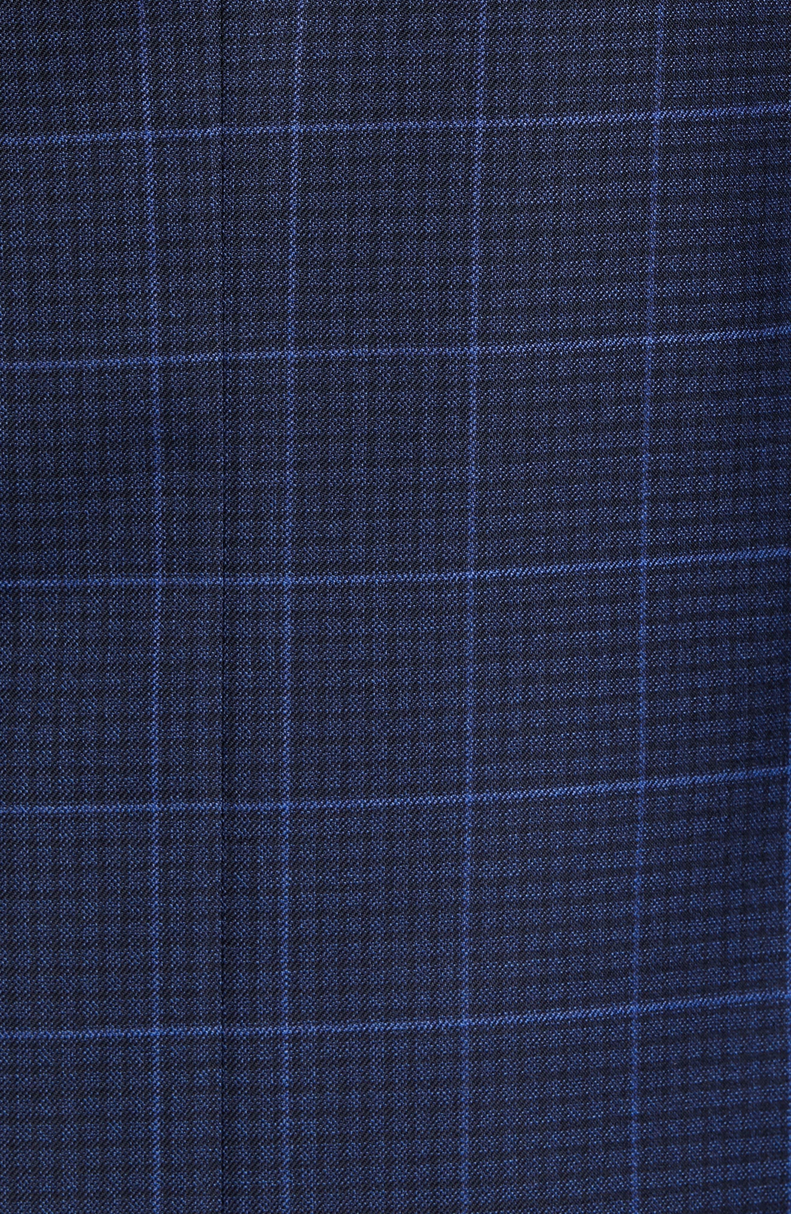 PETER MILLAR, Flynn Classic Fit Plaid Check Sport Coat, Alternate thumbnail 6, color, NAVY