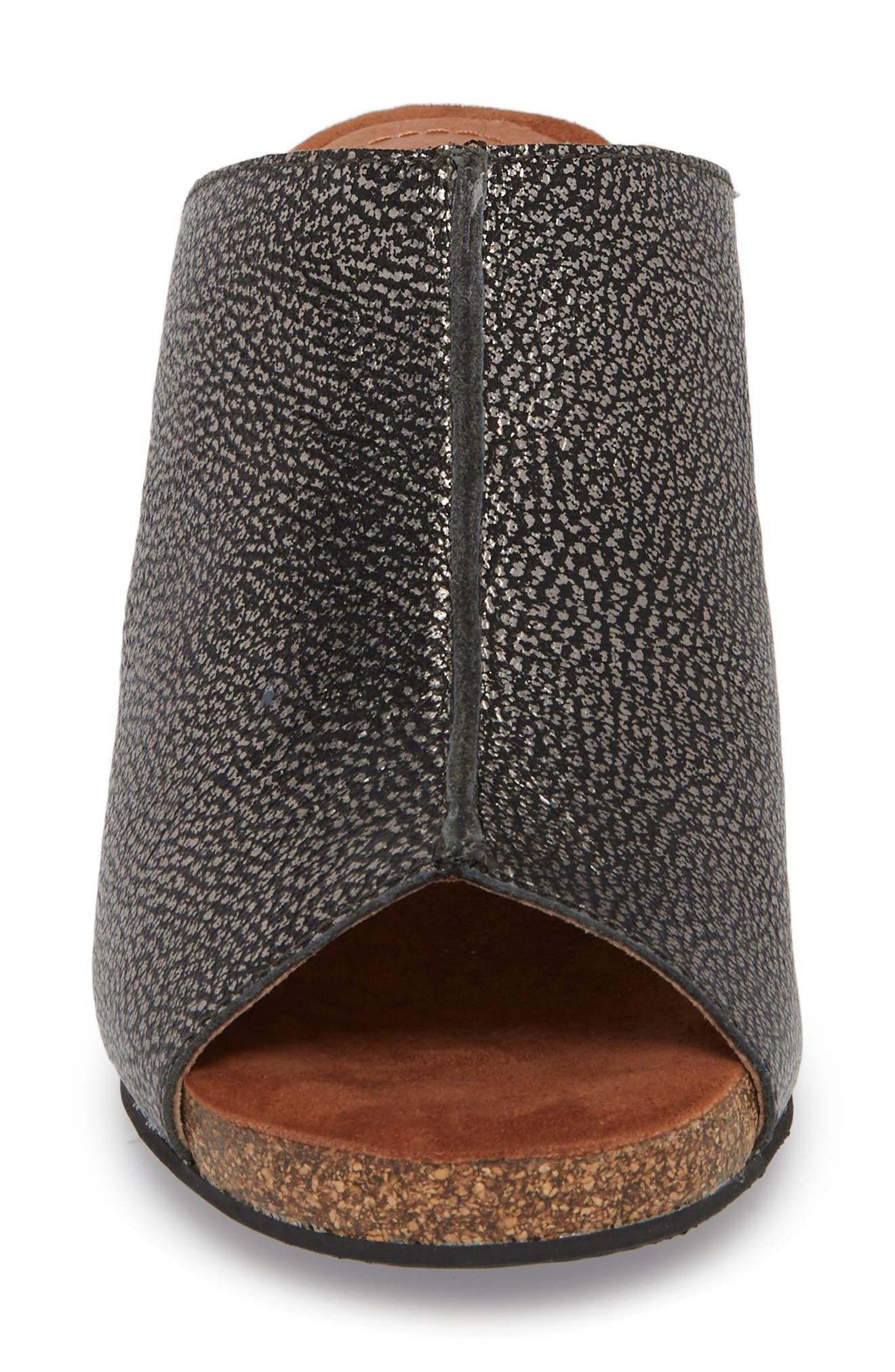 SUDINI, 'Bailey' Suede Wedge, Alternate thumbnail 4, color, PEWTER LEATHER