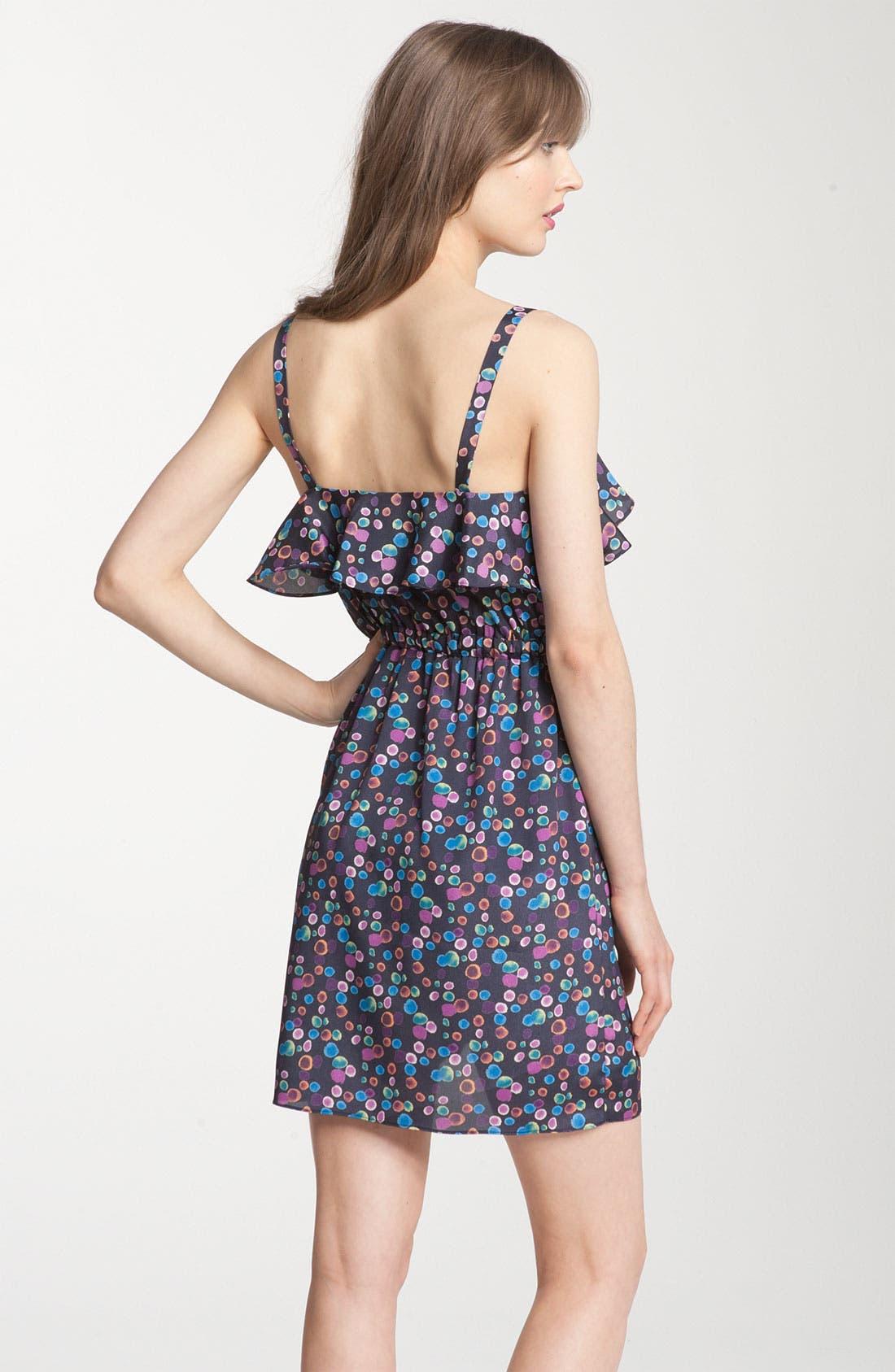 PURE SUGAR, Cascade Ruffle Print Dress, Alternate thumbnail 2, color, 400