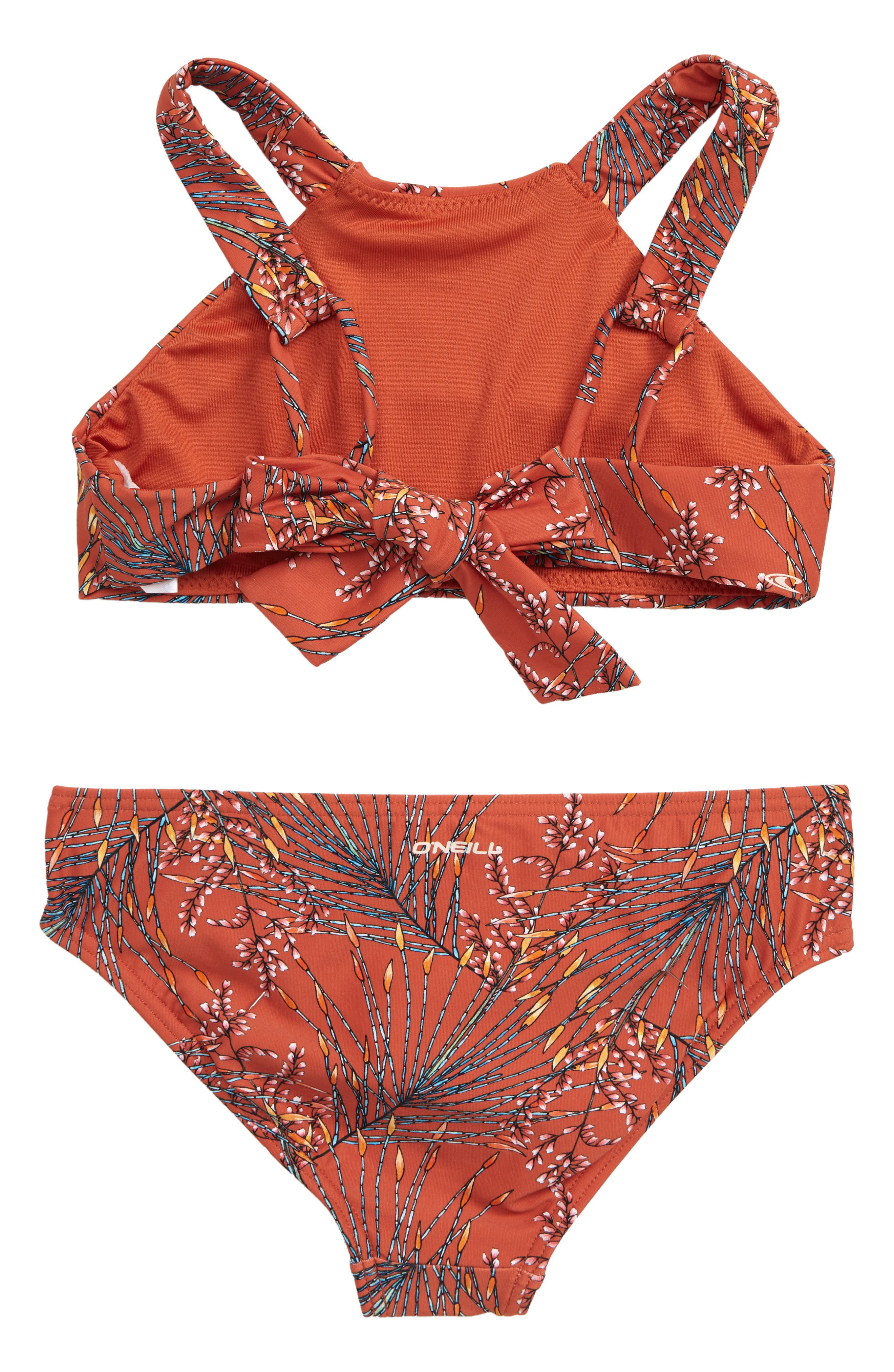 O'NEILL, Prism Two-Piece Halter Swimsuit, Alternate thumbnail 2, color, KOI