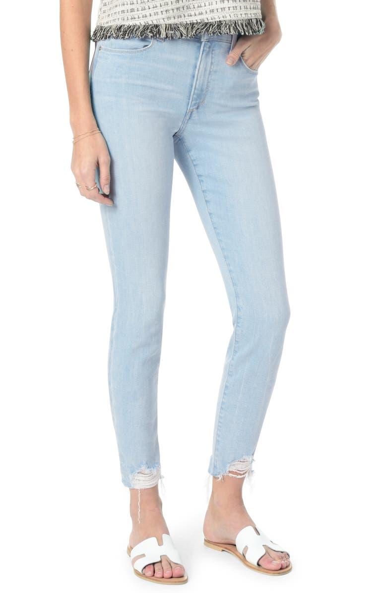 Joe's Jeans CHARLIE HIGH WAIST FRAYED ANKLE SKINNY JEANS
