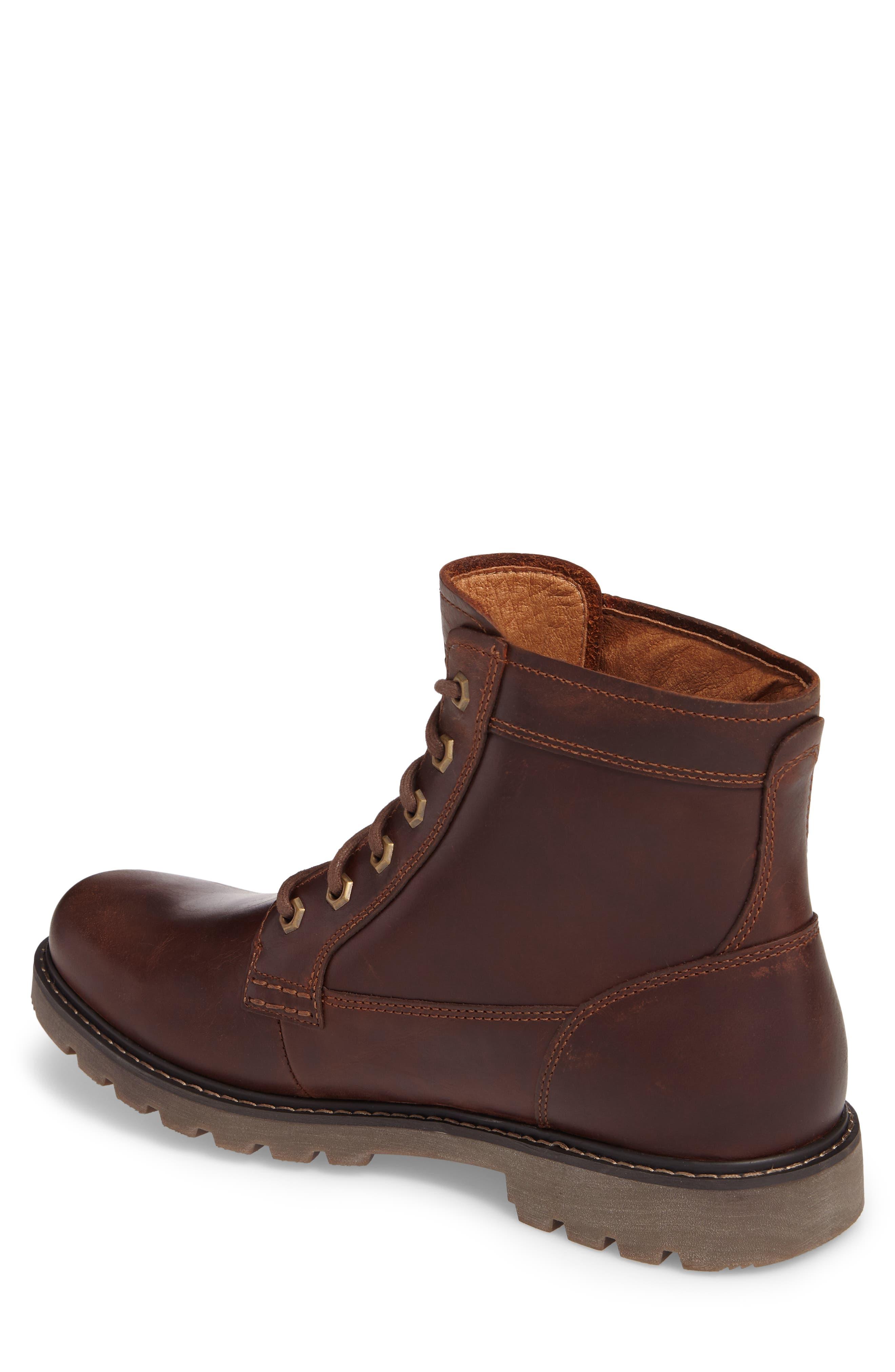DUNHAM, Royalton Plain Toe Boot, Alternate thumbnail 2, color, BROWN