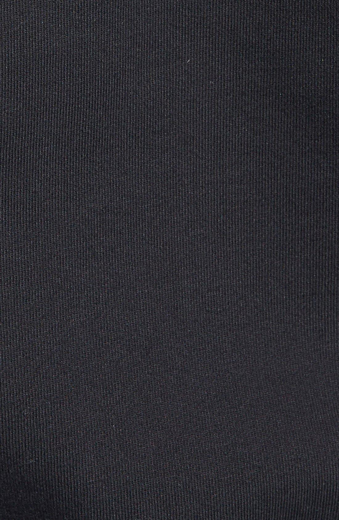 REIGNING CHAMP, Core Zip Front Hoodie, Alternate thumbnail 5, color, BLACK