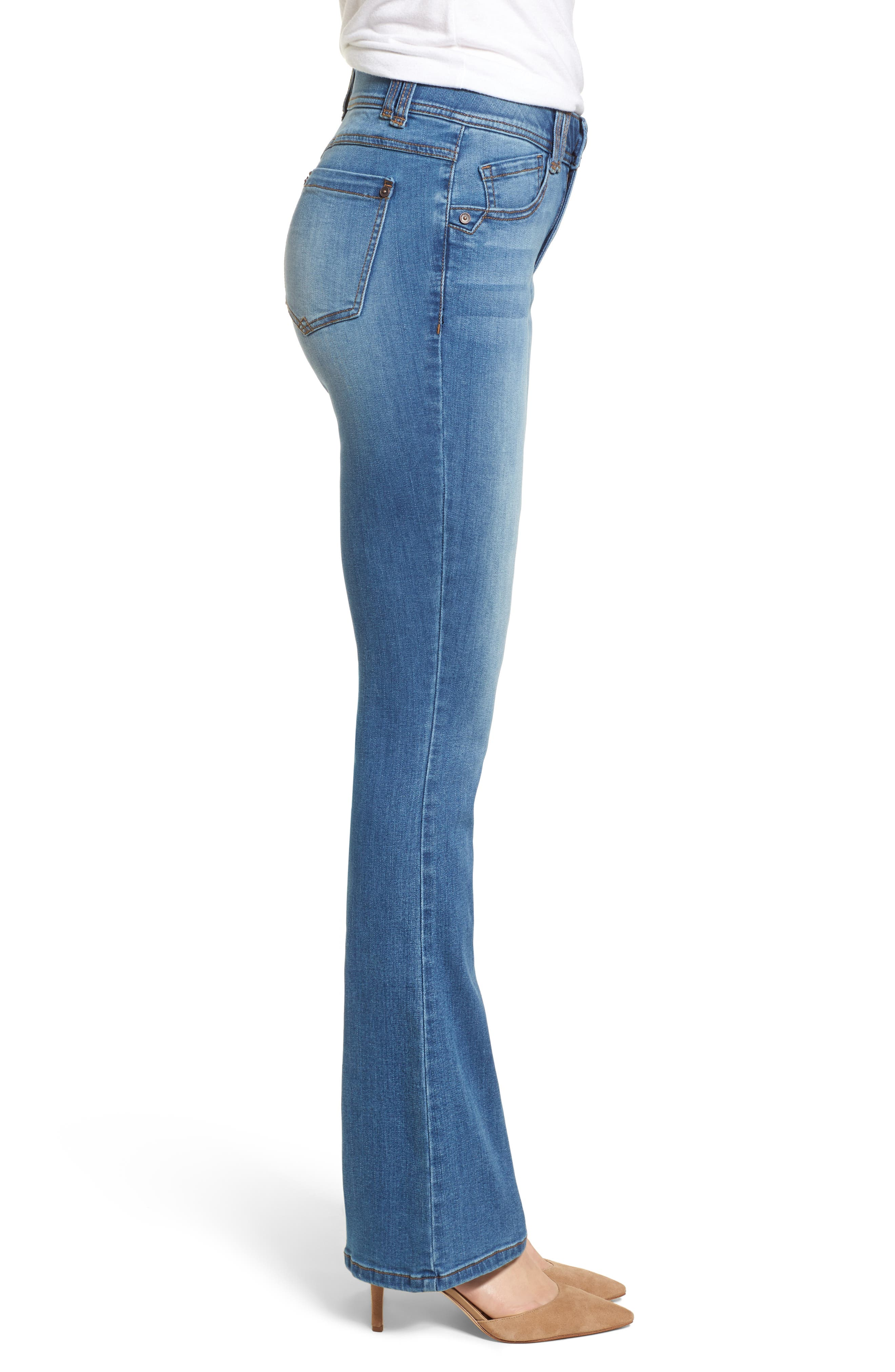 WIT & WISDOM, Ab-solution Itty Bitty Bootcut Jeans, Alternate thumbnail 4, color, LIGHT BLUE