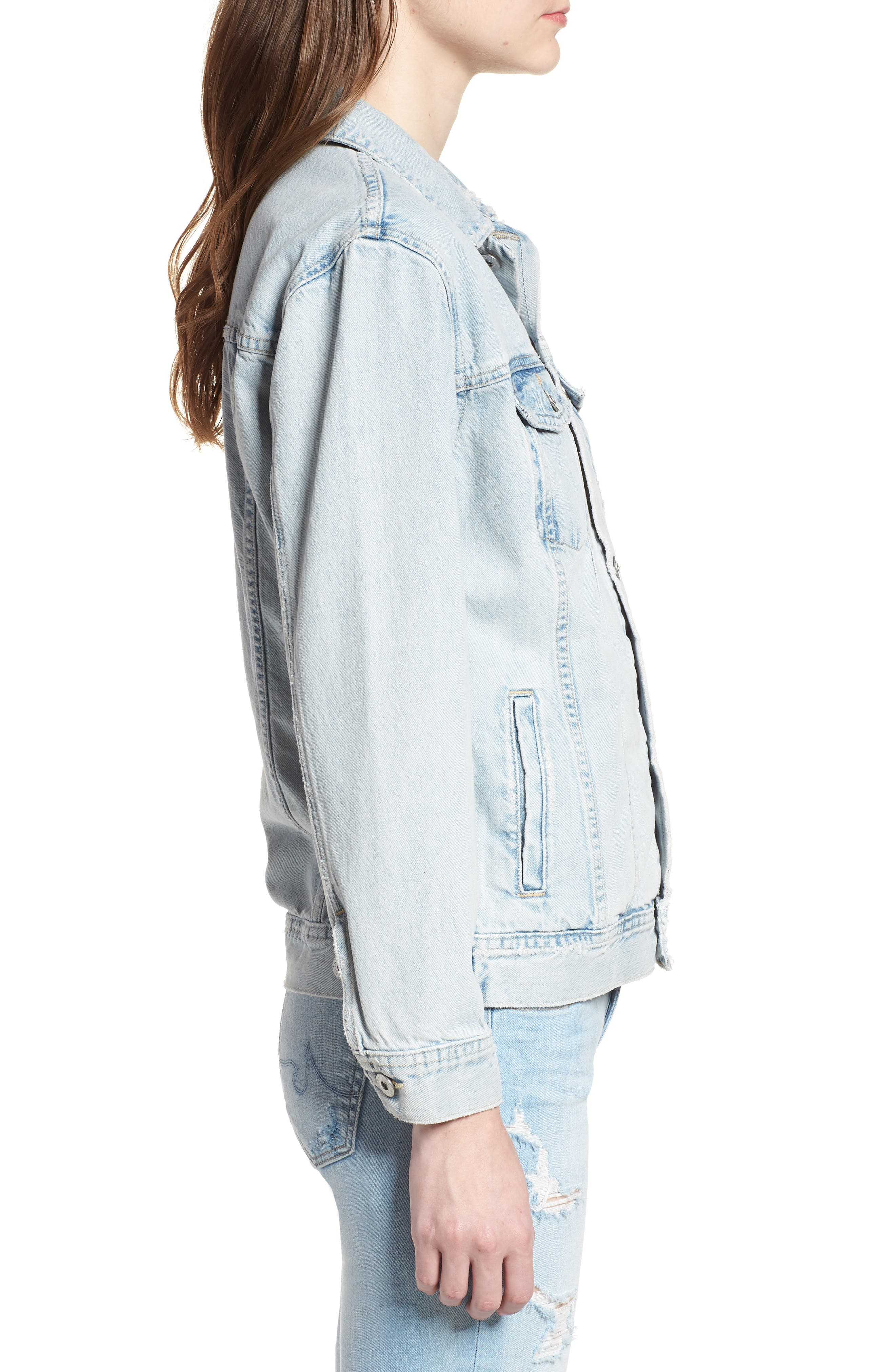 AG, Nancy Denim Jacket, Alternate thumbnail 4, color, SHATTERED INDIGO