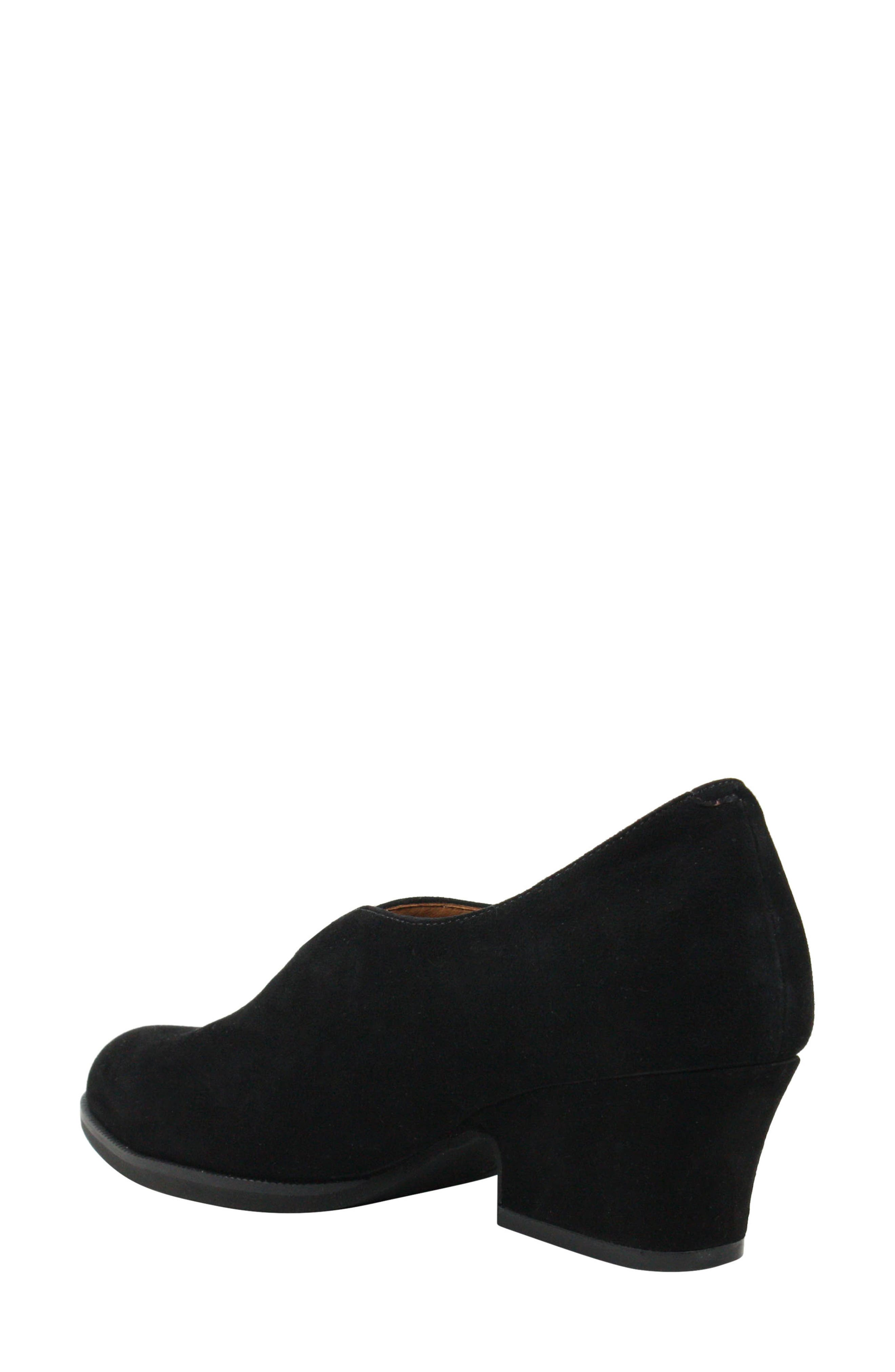 L'AMOUR DES PIEDS, Jessica Bootie, Alternate thumbnail 2, color, BLACK SUEDE