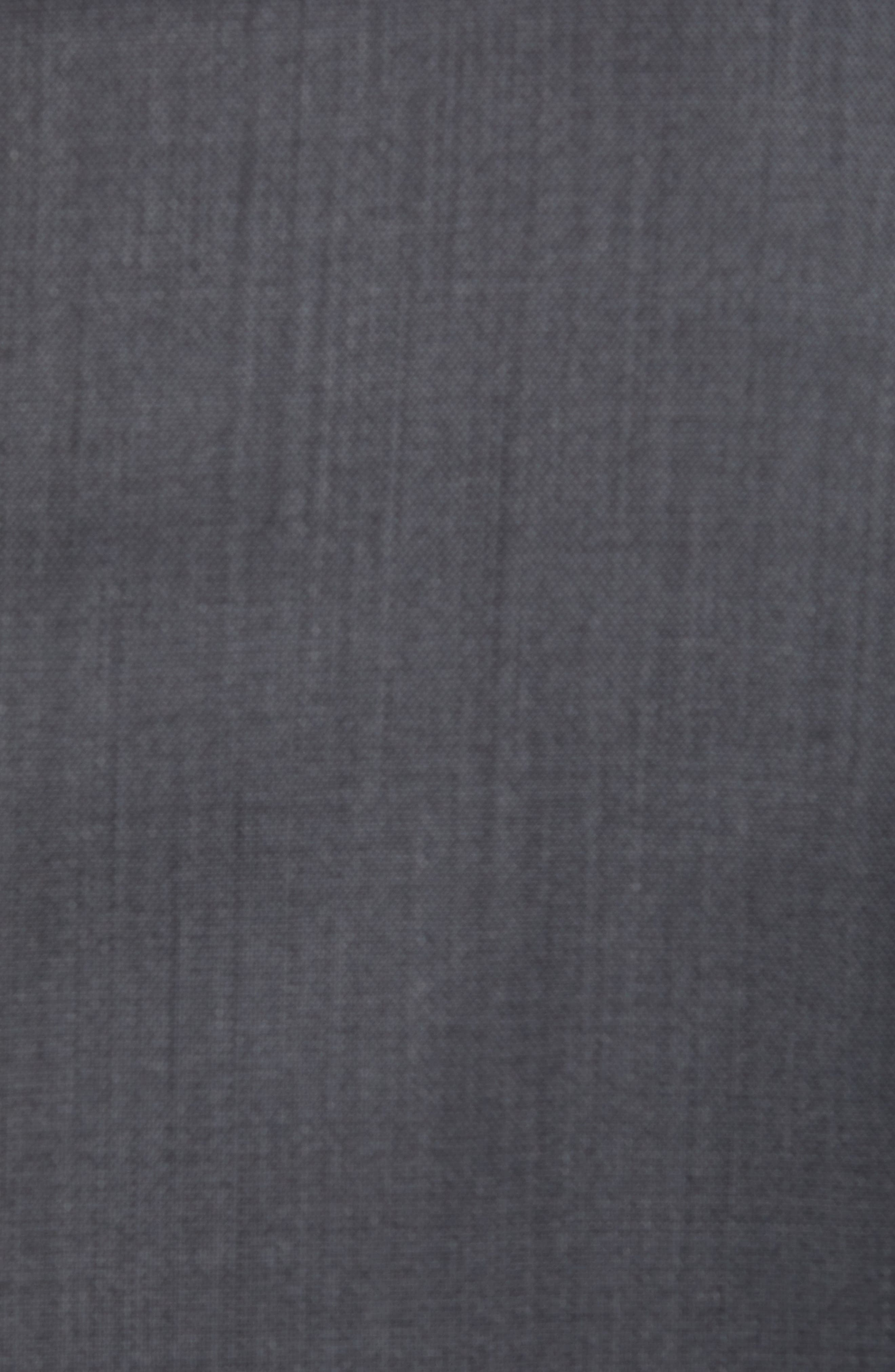 TED BAKER LONDON, ay' Trim Fit Solid Wool Suit, Alternate thumbnail 6, color, CHARCOAL