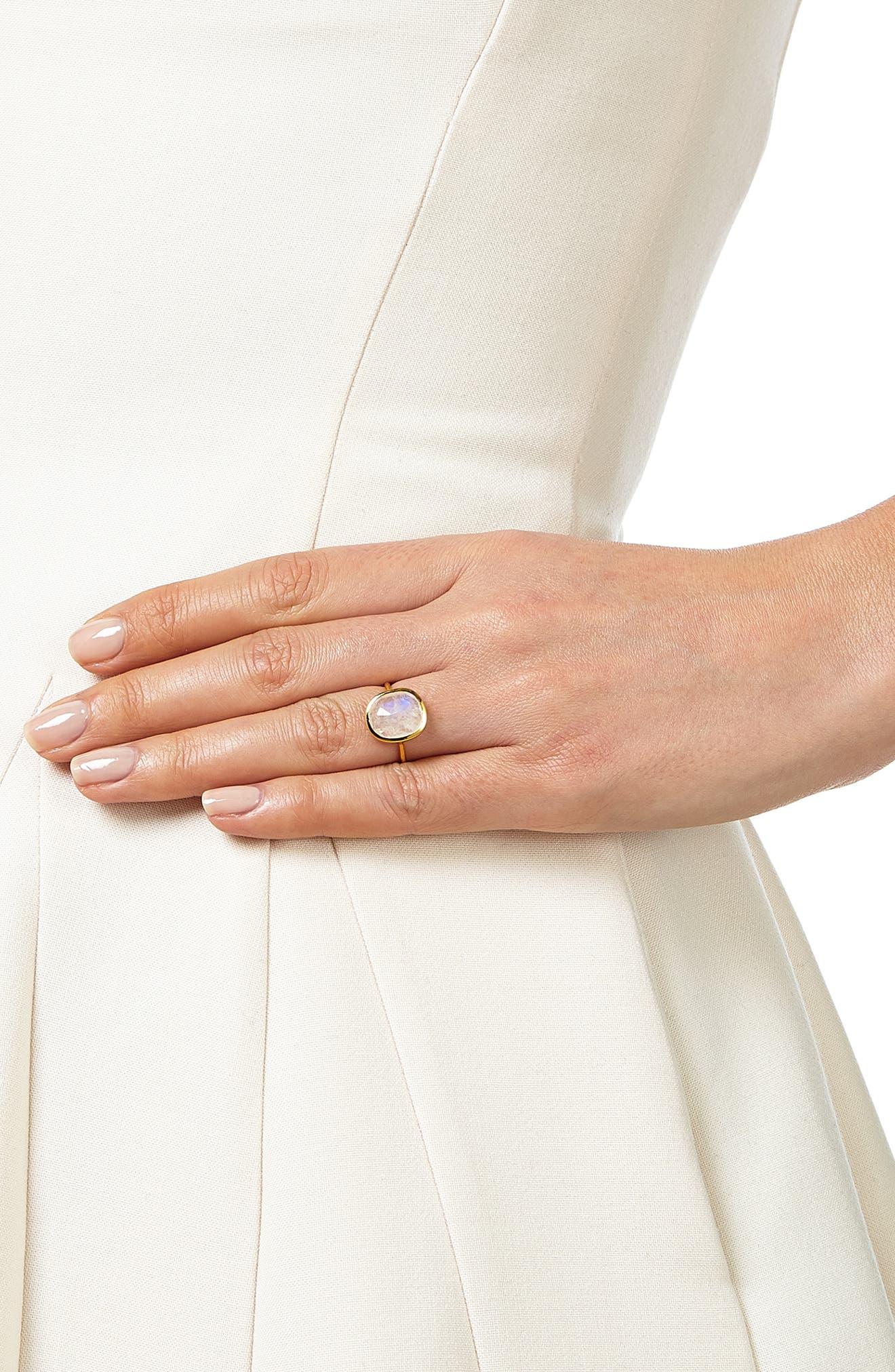 MONICA VINADER, Siren Semiprecious Stone Ring, Alternate thumbnail 2, color, GOLD/ MOONSTONE