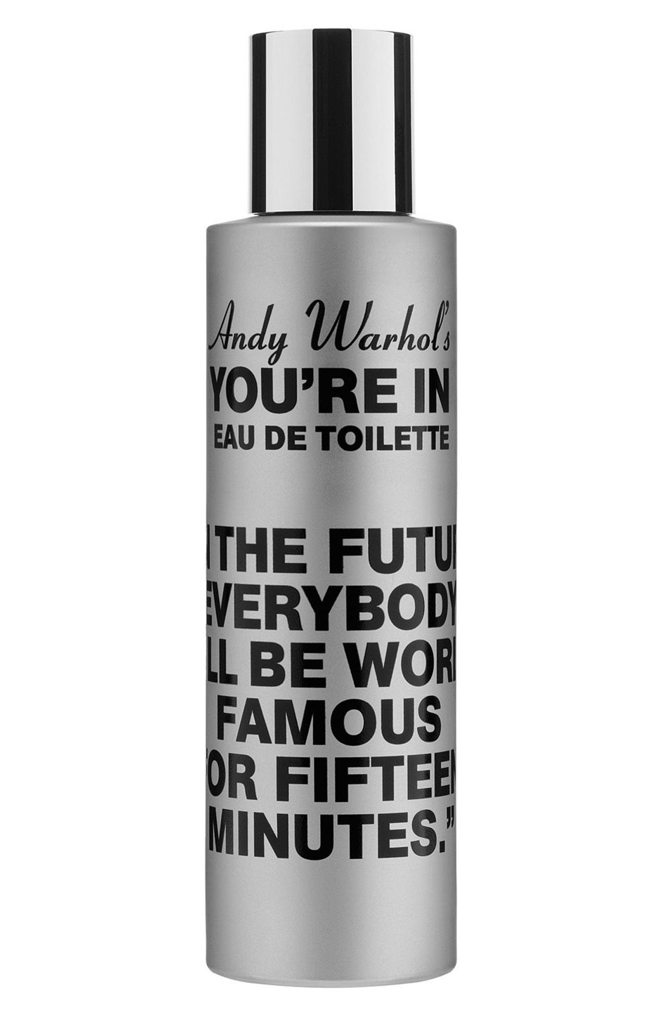 COMME DES GARÇONS, Andy Warhol You're In Unisex Eau de Toilette, Main thumbnail 1, color, IN THE FUTURE