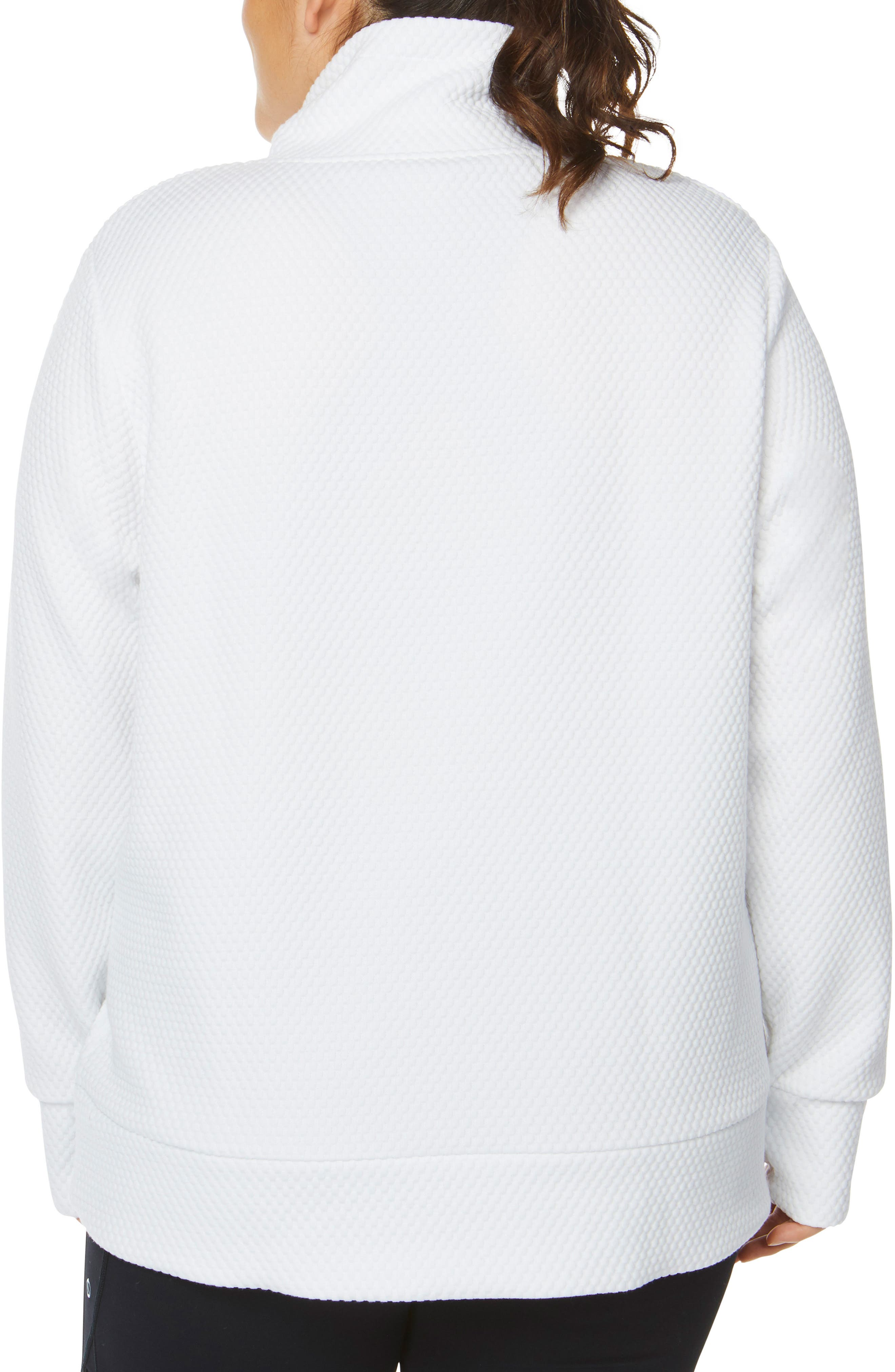 SHAPE ACTIVEWEAR, Overcast Funnel Neck Pullover, Alternate thumbnail 2, color, 100