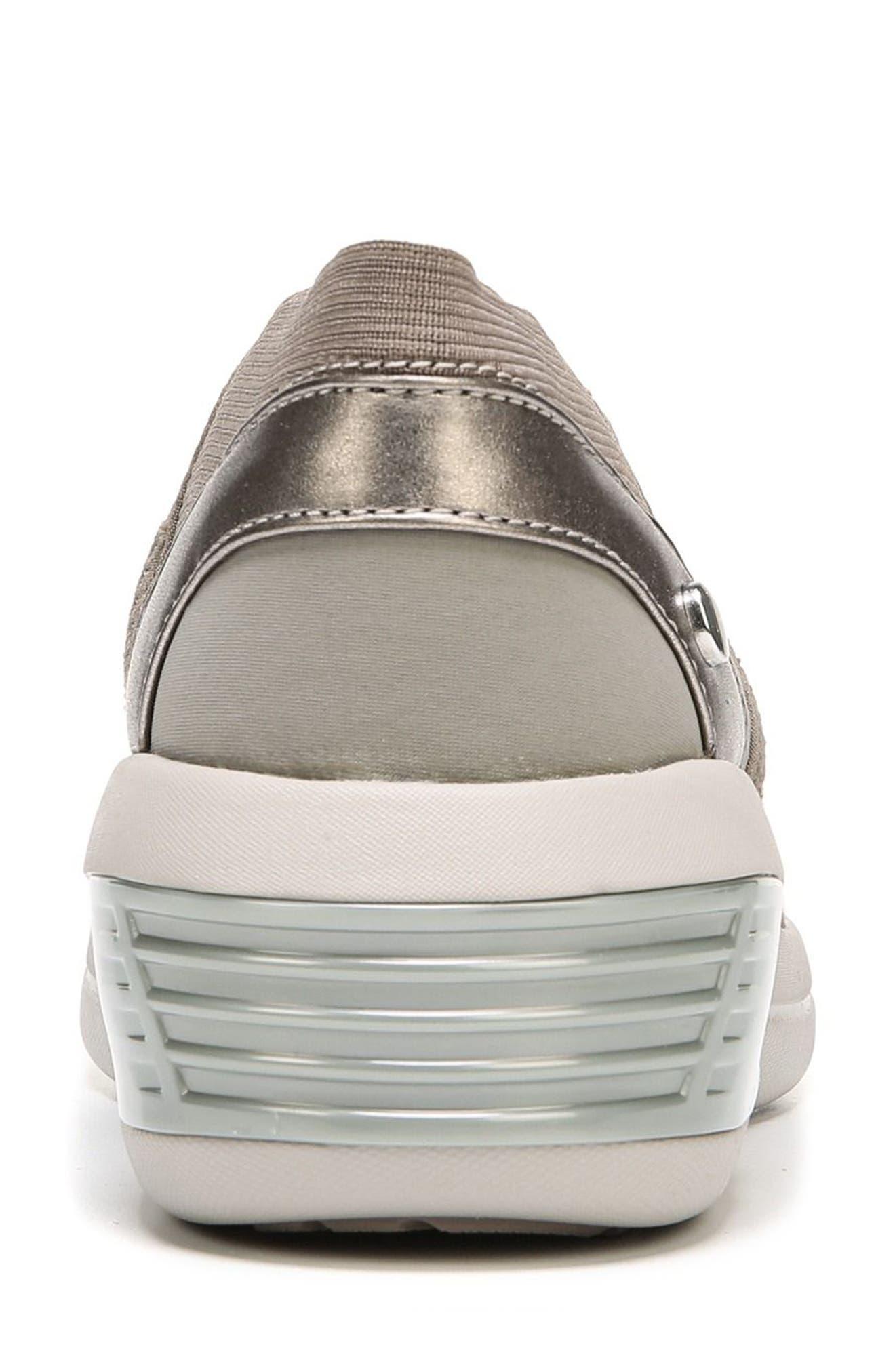BZEES, Fling Wedge Sneaker, Alternate thumbnail 7, color, BROWN FABRIC