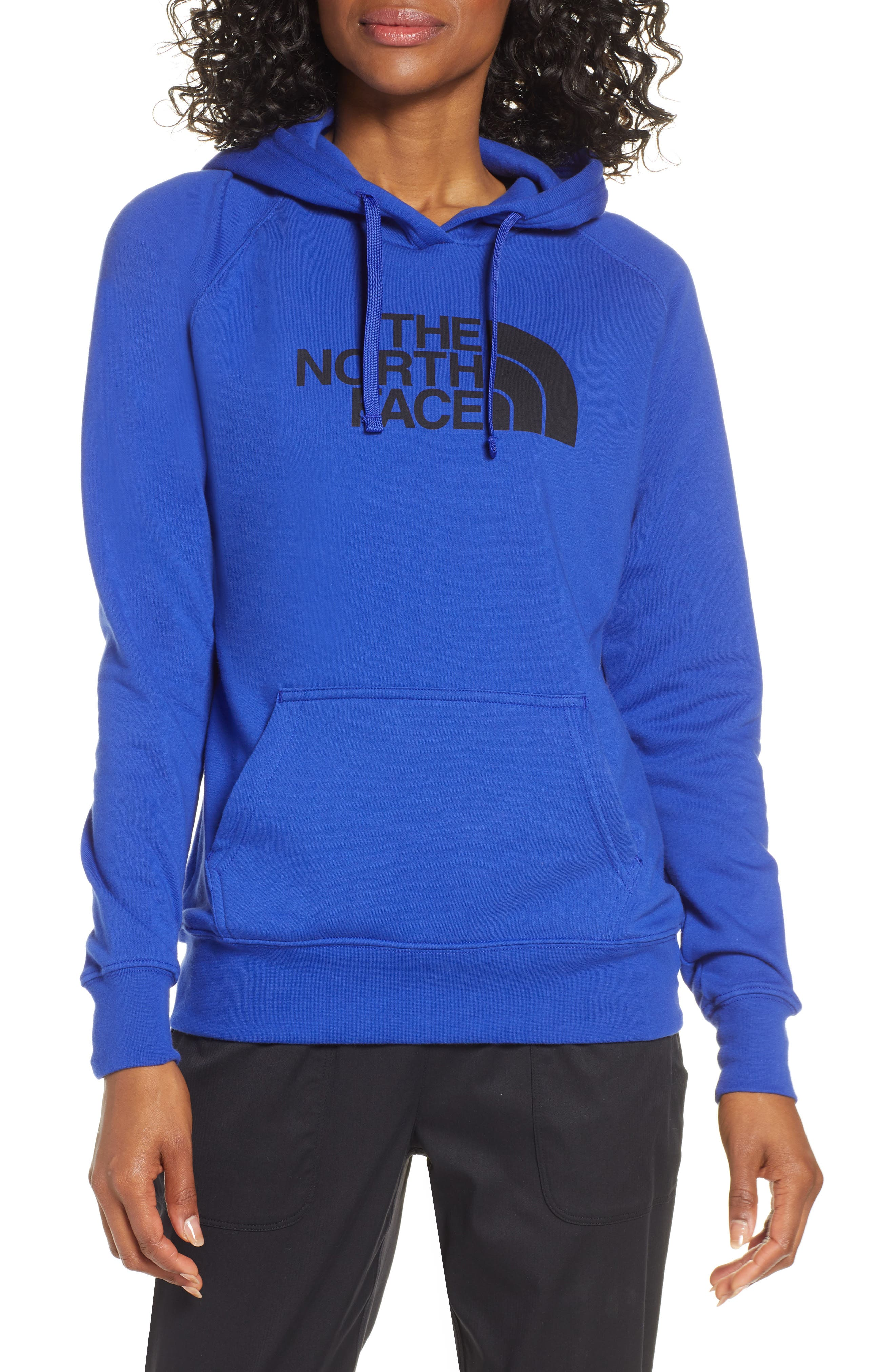 THE NORTH FACE, Half Dome Hoodie, Main thumbnail 1, color, AZTEC BLUE/ TNF BLACK